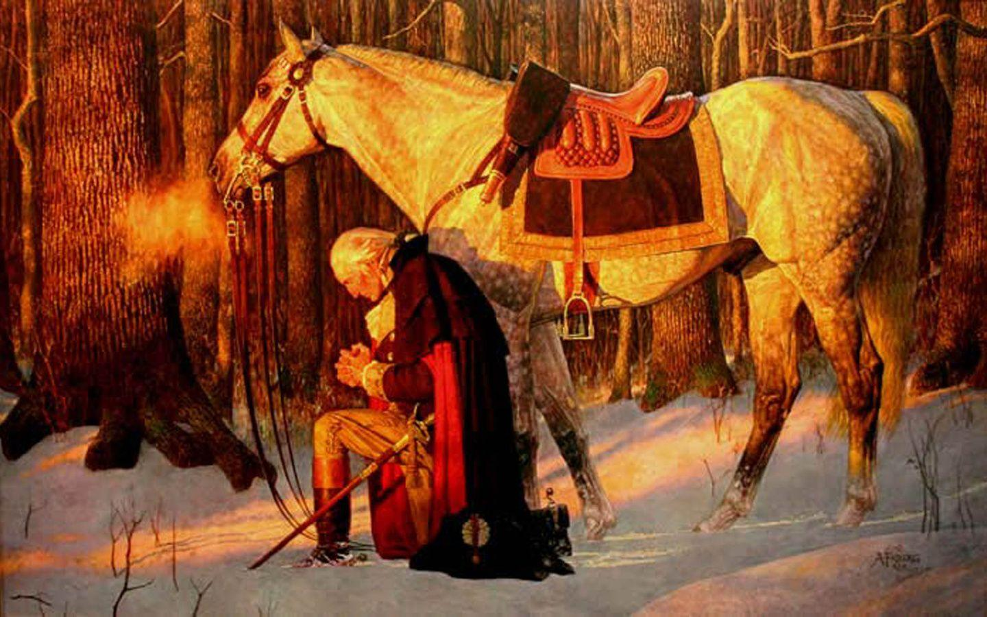 1440x900 George Washington, George Washington Praying, President ...