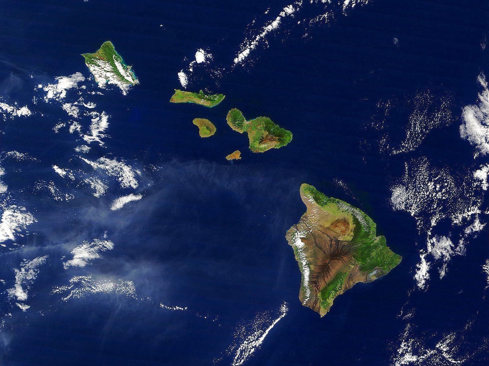 Hawaii from satellite wallpapers