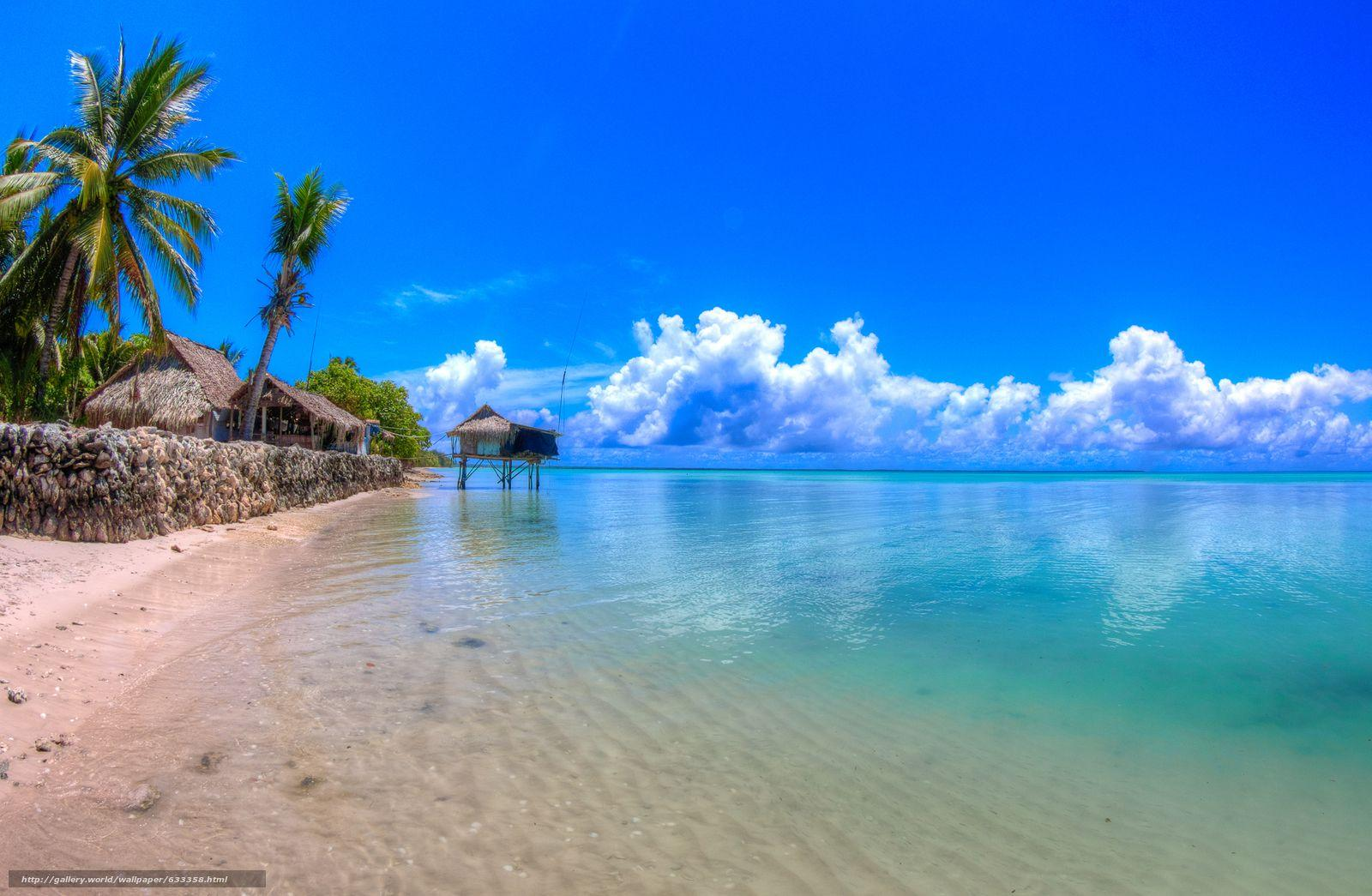 Download wallpaper lagoon, Abaiang, Kiribati- Pacific States ...