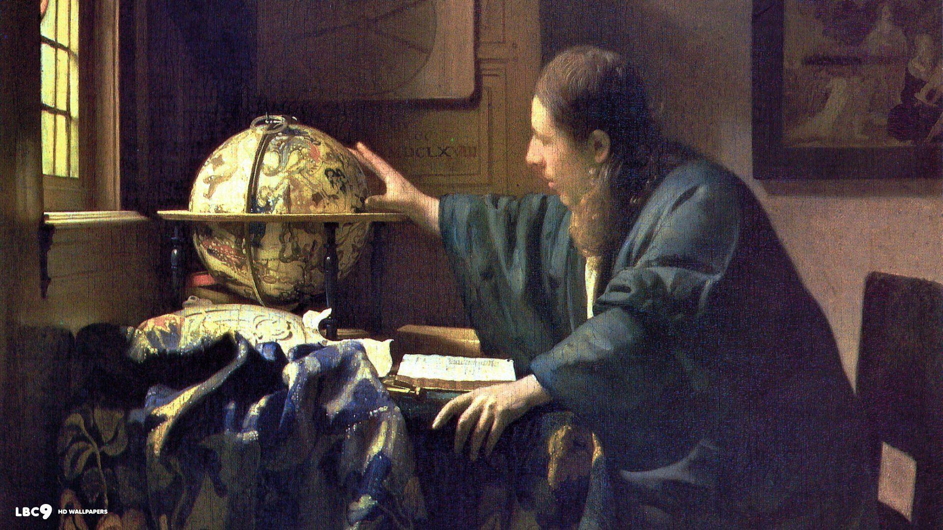 Wallpaper Jan Vermeer Astronomer - 1920 x 1080 - Famous Painting .