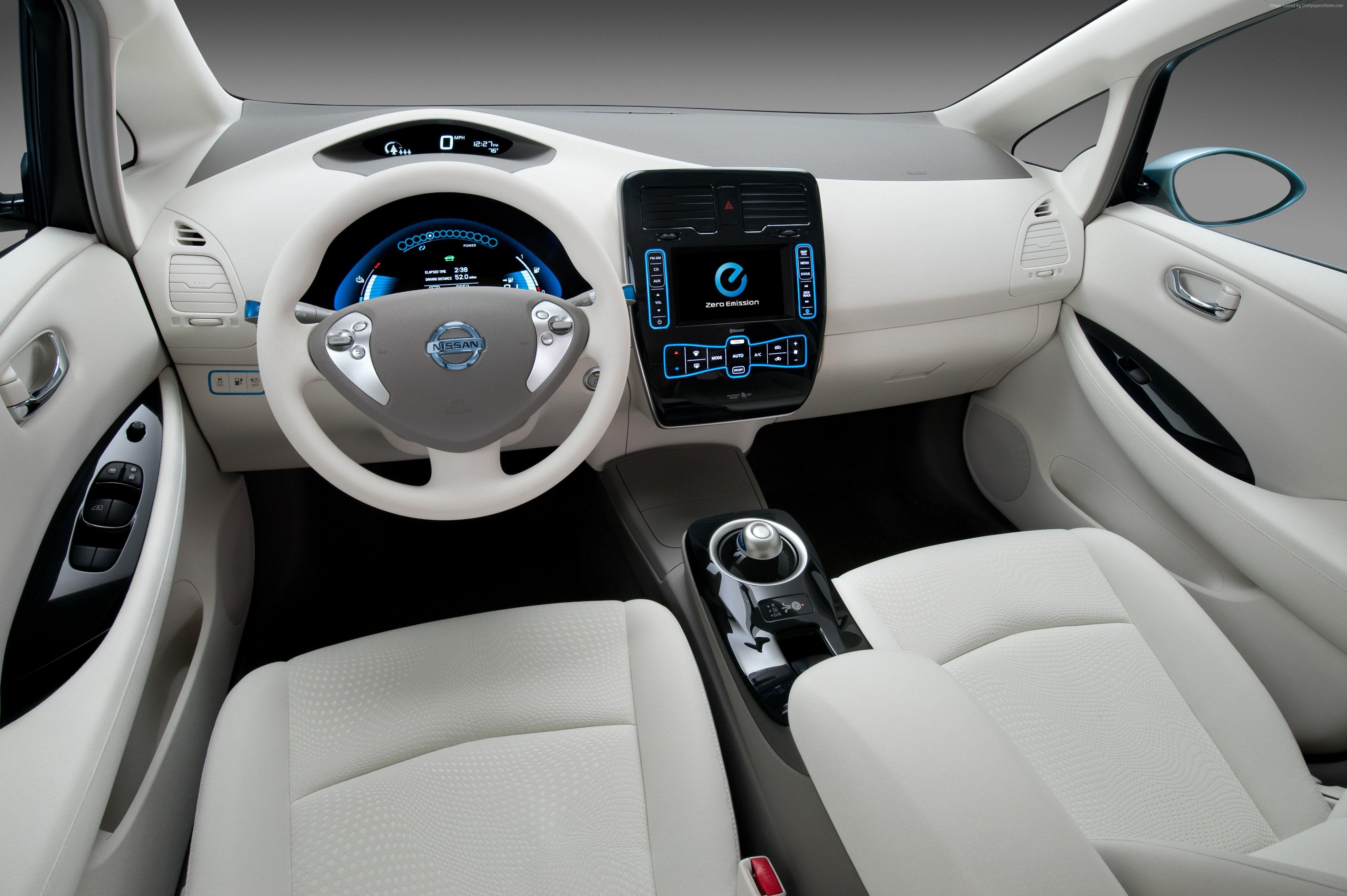 Wallpaper Nissan LEAF, electric cars, Nissan, interior, city cars ...