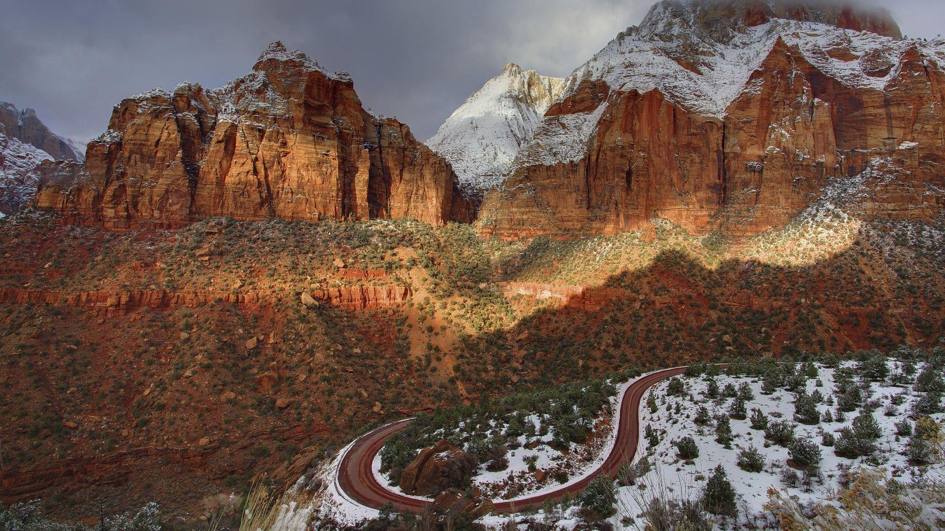 Zion National Park Winter - wallpaper.