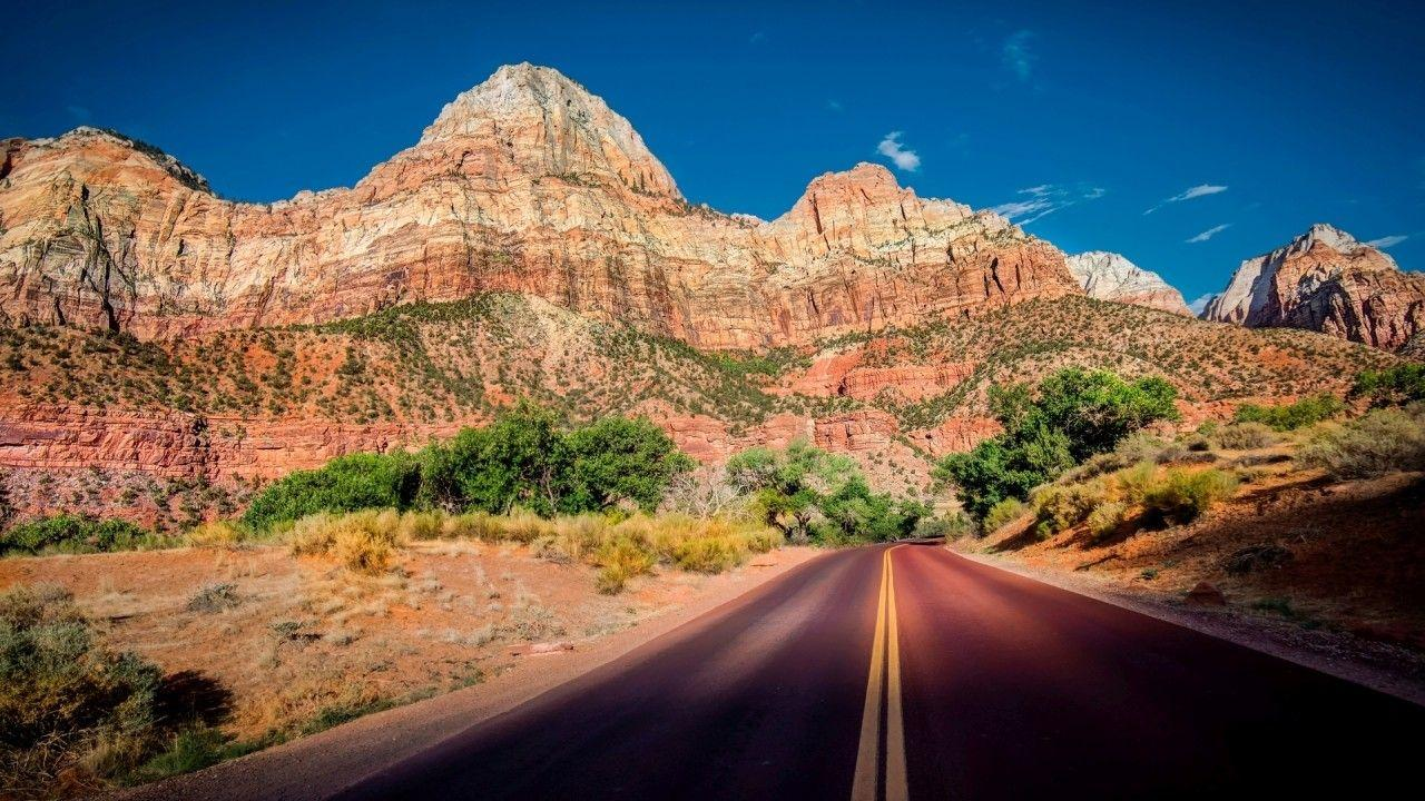 Zion National Park Sunny Day wallpapers | Zion National Park Sunny ...
