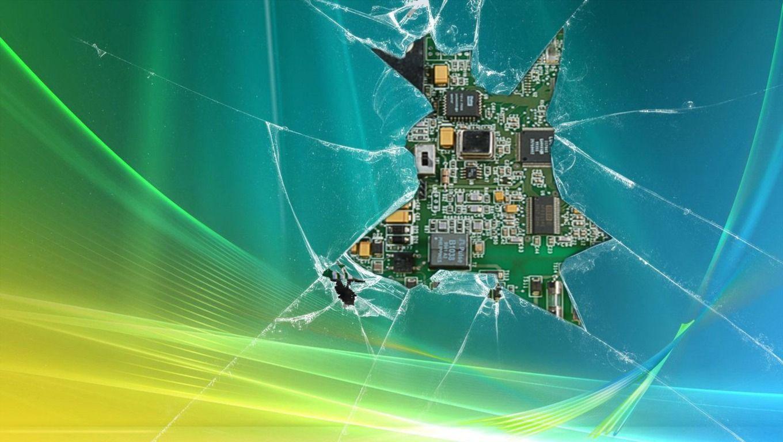 3D Cracked Screen Wallpaper