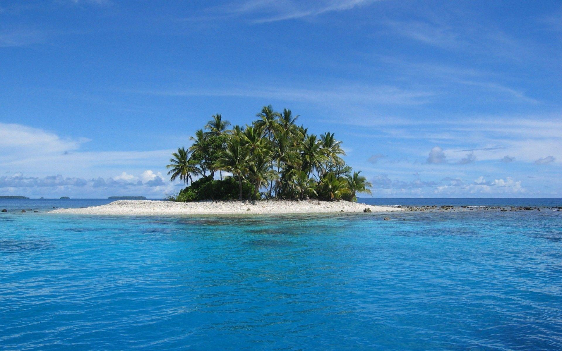 Island in Micronesia HD wallpaper #543510