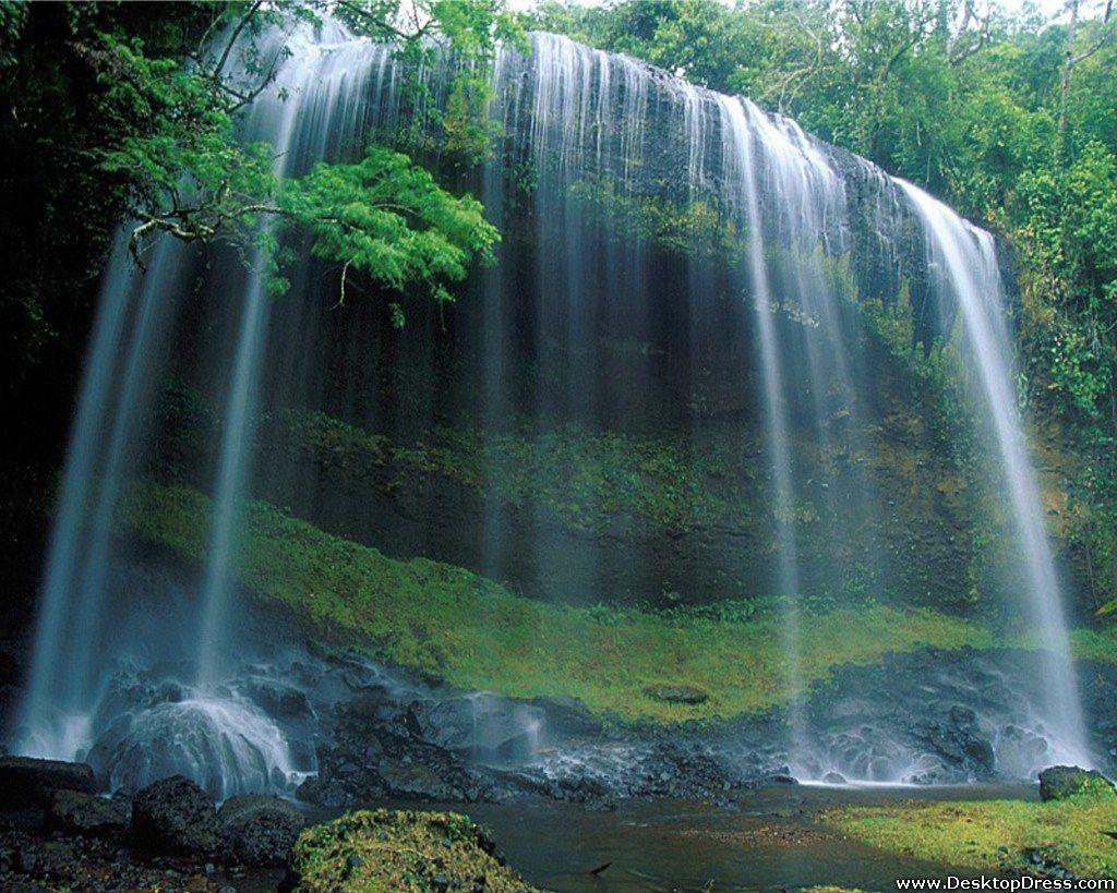 Desktop Wallpapers » Natural Backgrounds » Waterfall, Palau ...