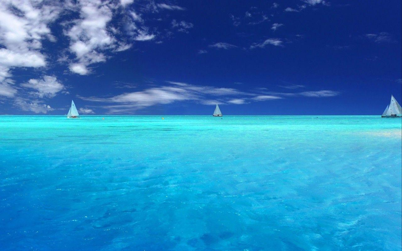 44CCDD Color wallpapers: Lagoon Palau Ocean Pacific Pardise ...