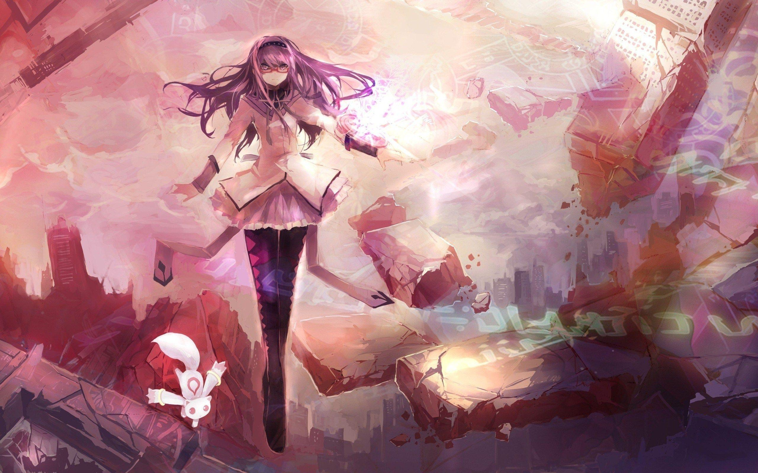 Anime Love Art Fight Picture Abstraction Beauty Girl Manga