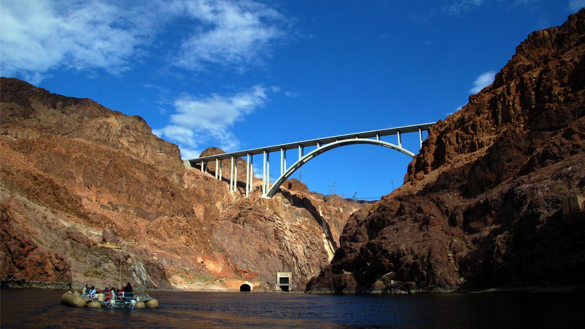 Hoover dam bypass bridge Full HD Wallpapers and Backgrounds