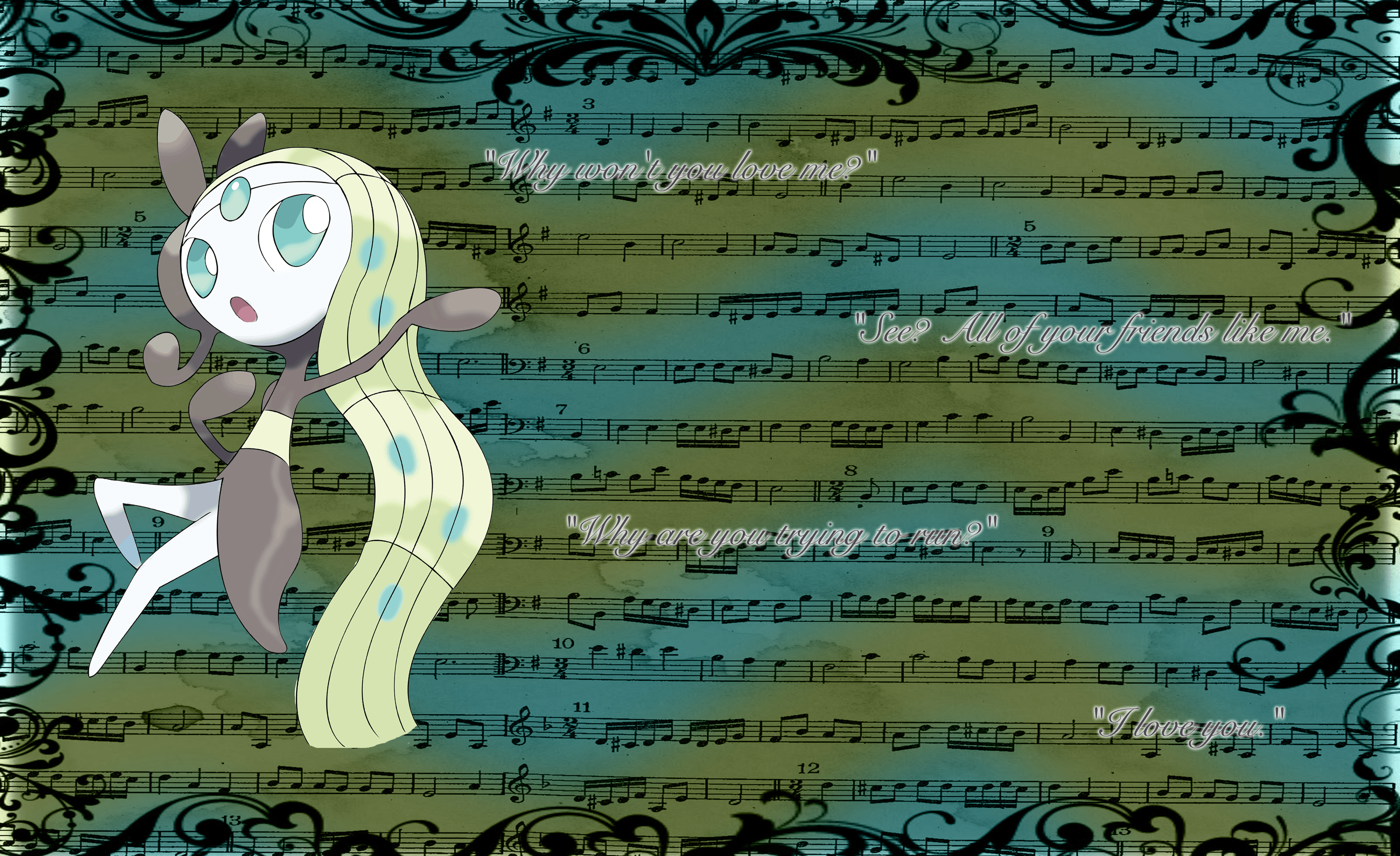 Meloetta Wallpaper by One-Mister-Badguy on DeviantArt