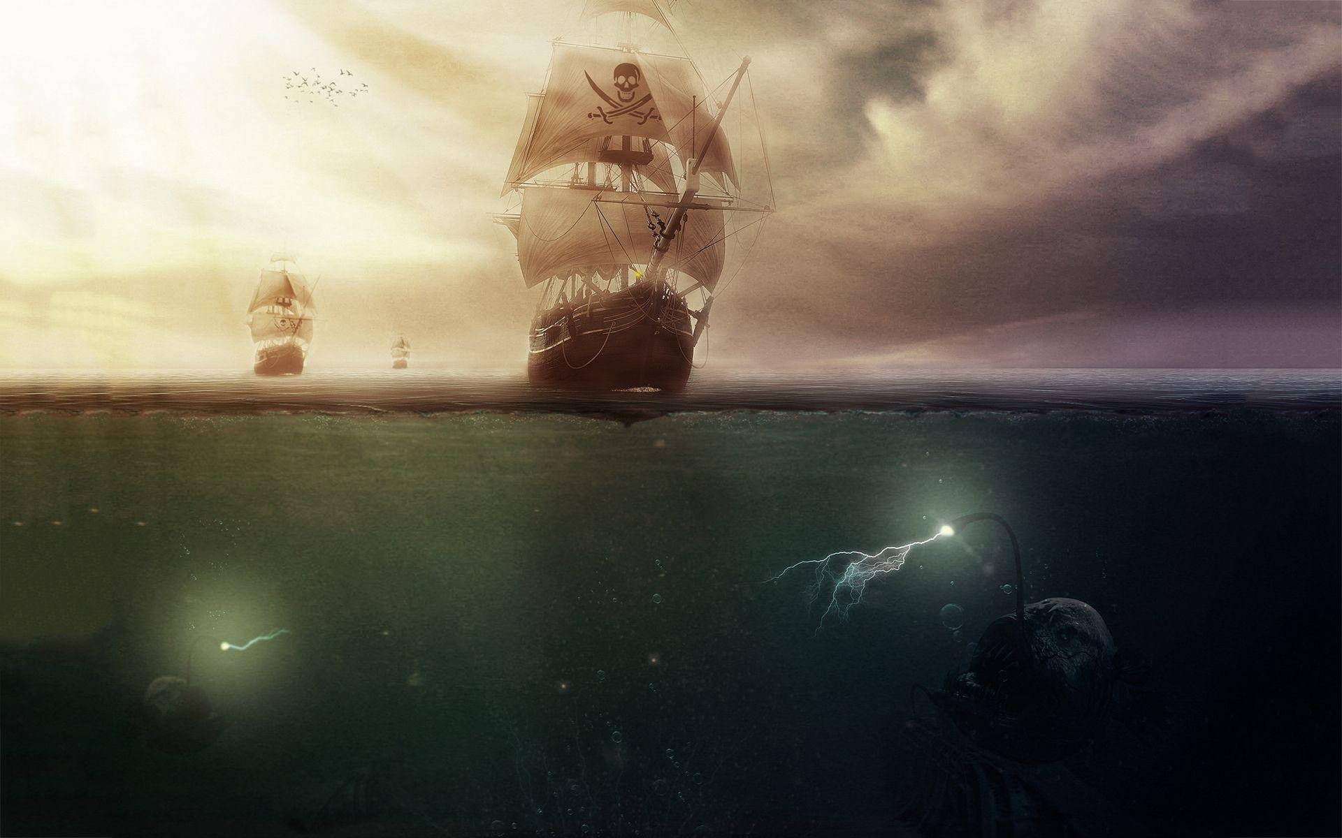 Pirates sea monsters wallpaper | 1920x1200 | #10863