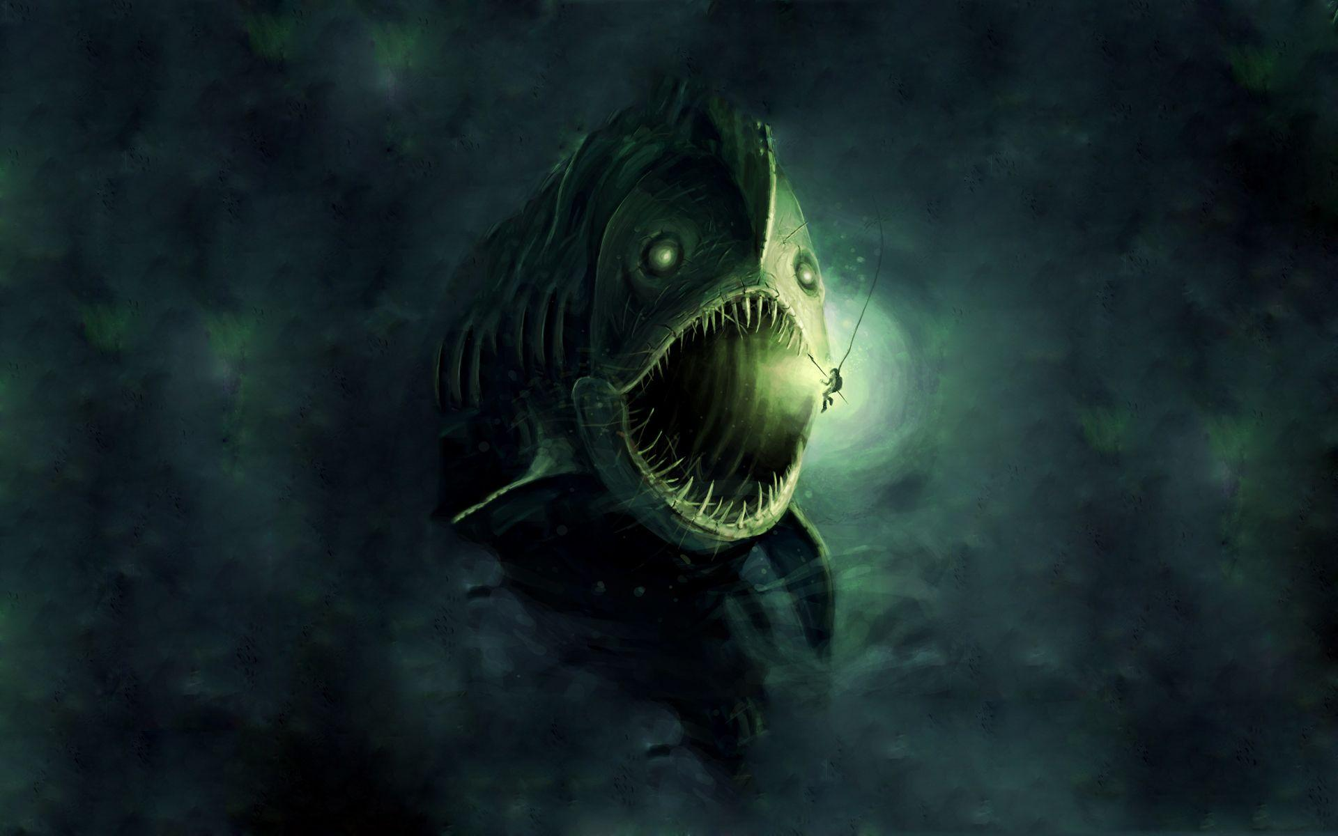 Scary Fish X 1920x1080 | #637866 #scary | Images Wallpapers ...