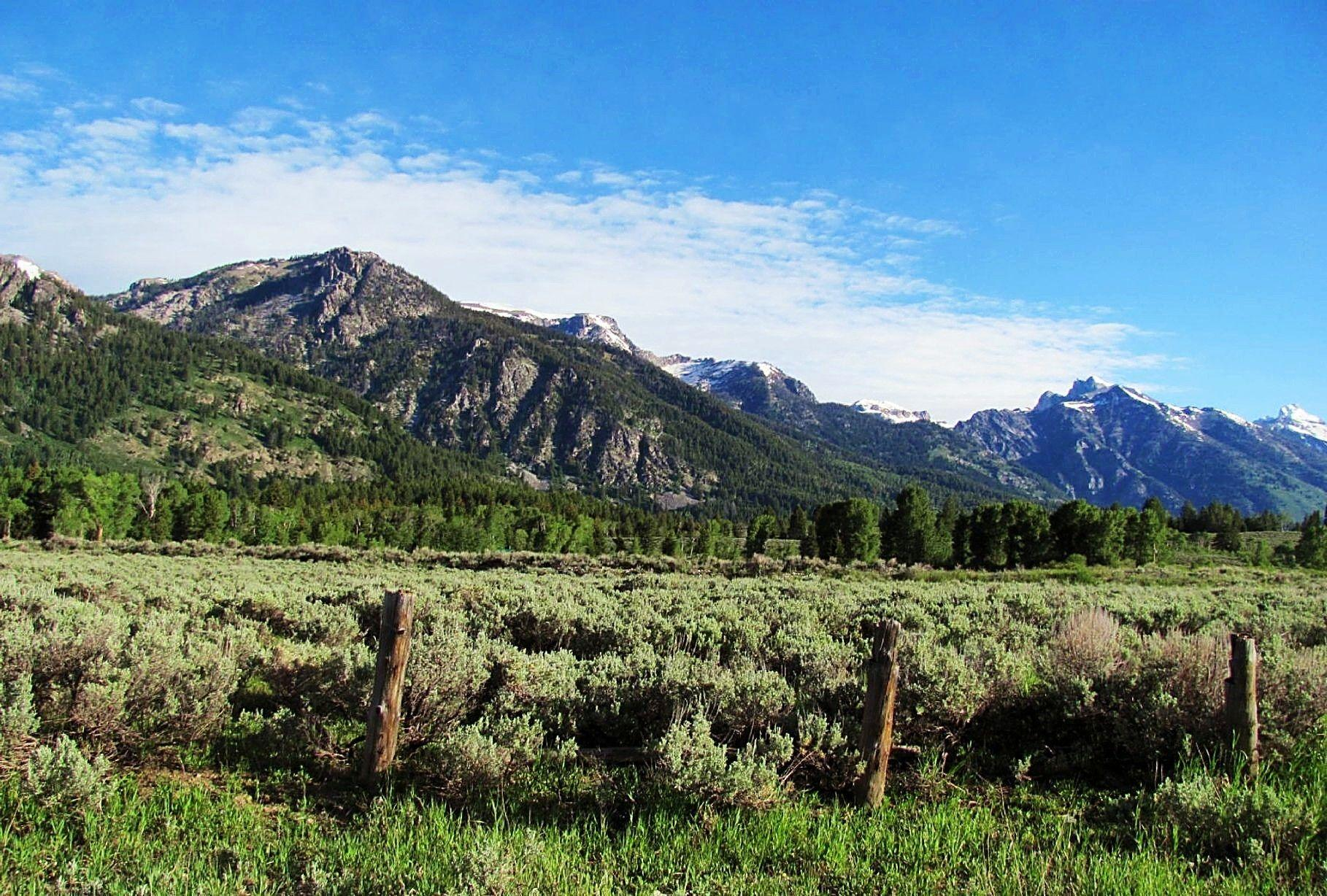Mountains: Grand Prairie Nature Tetons Spring Mountains Scenes ...