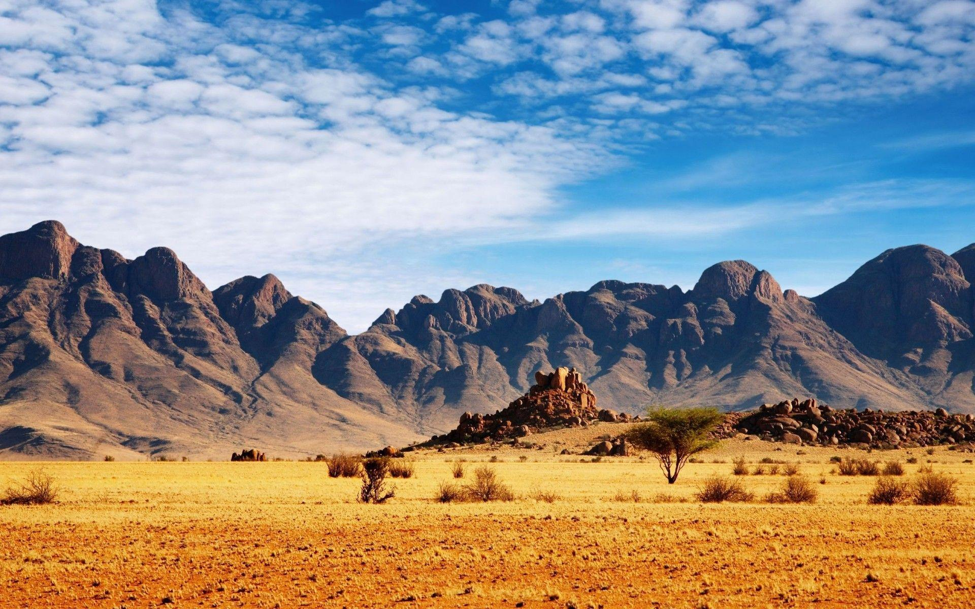 Mountain Scenic Desert Namibia wallpapers | Mountain Scenic Desert ...
