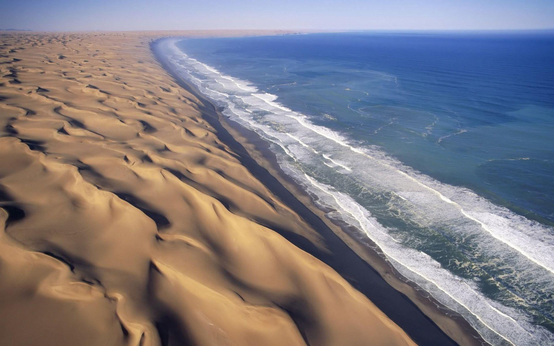 landscape, Dune, Beach, Namibia Wallpapers HD / Desktop and Mobile ...