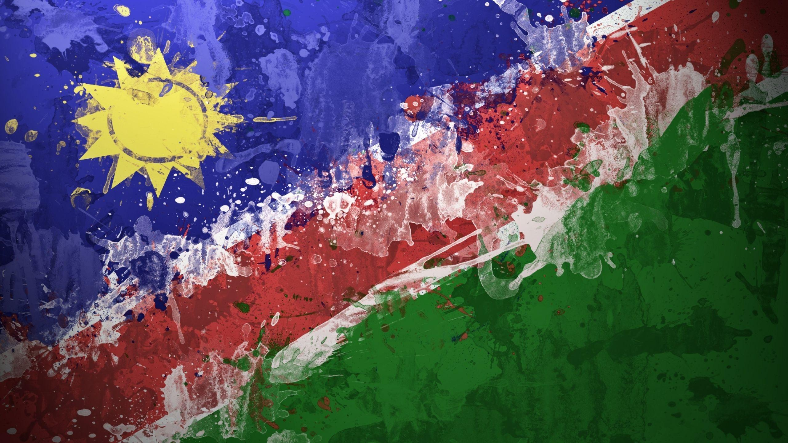 Download Wallpapers, Download 2560x1440 flags namibia 1920x1080 ...