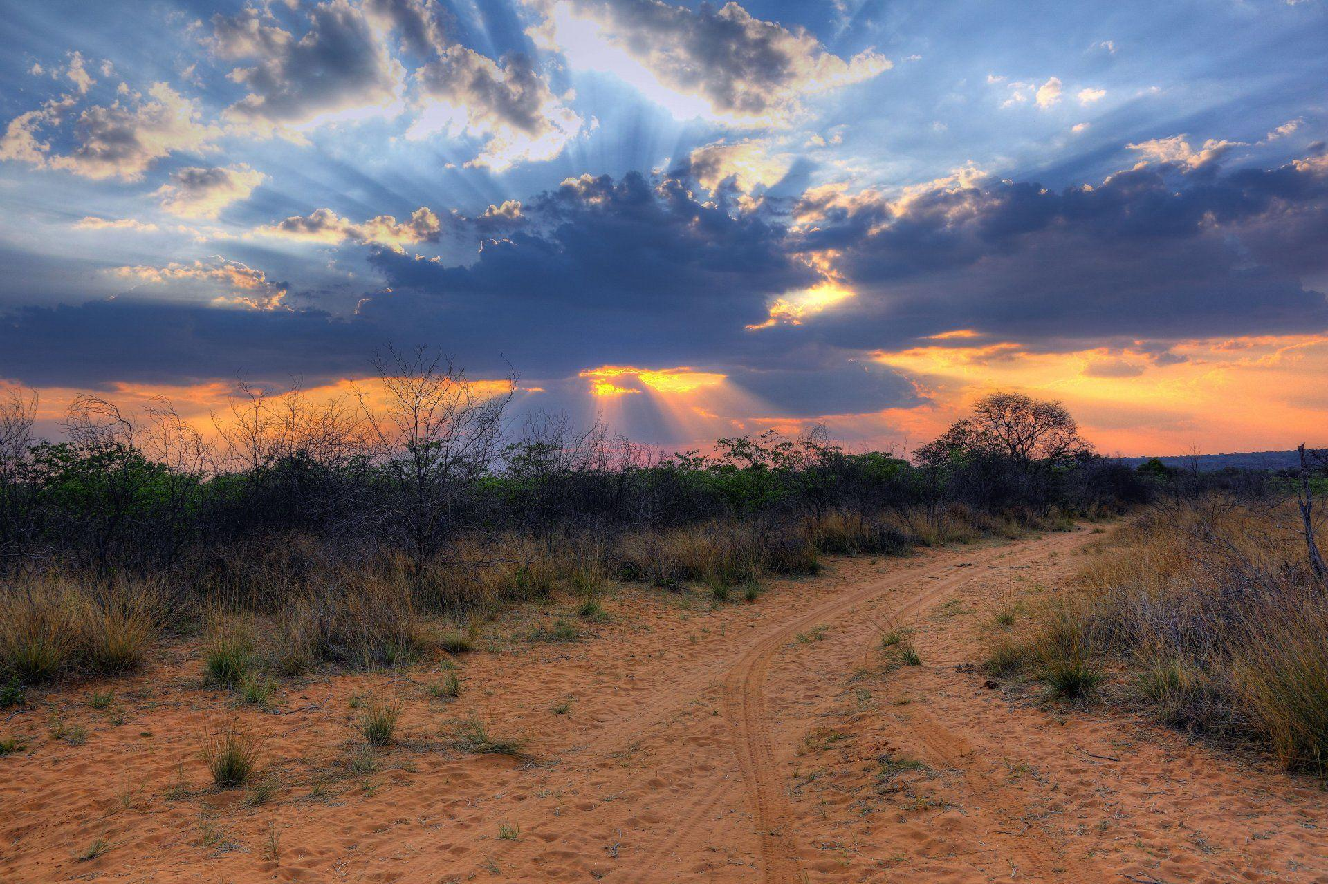 africa south africa namibia landscape clouds sunset desert HD ...