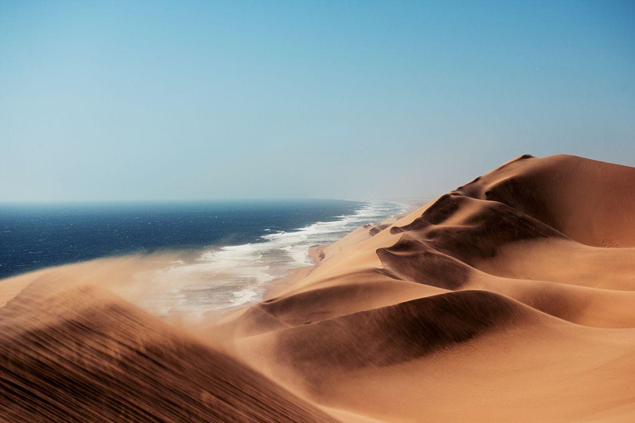 Namibia Kalahari Desert Sea Nature Sand Coast