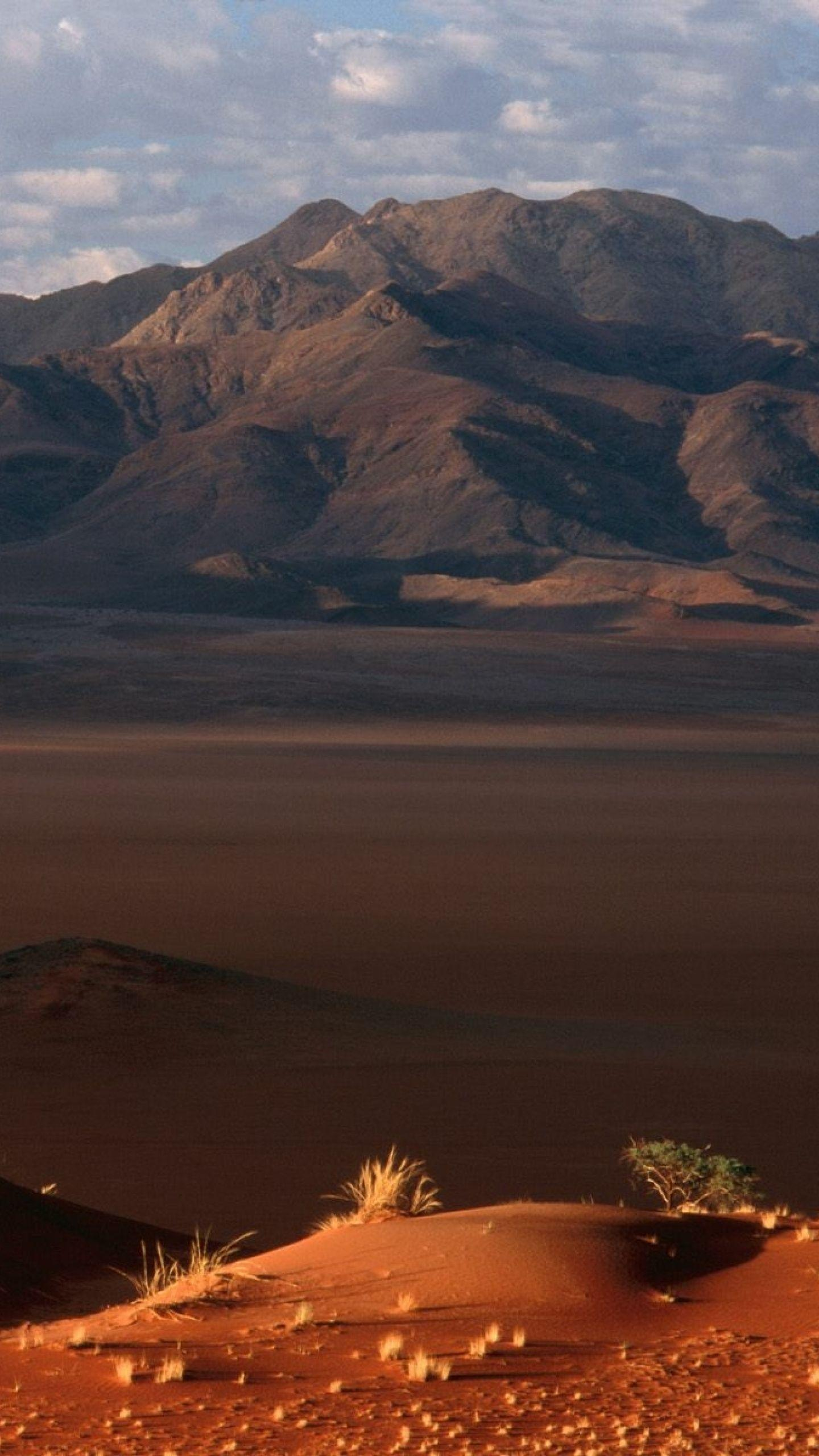 Download Wallpaper 1440x2560 Namibia, Desert, Sand, Mountains ...