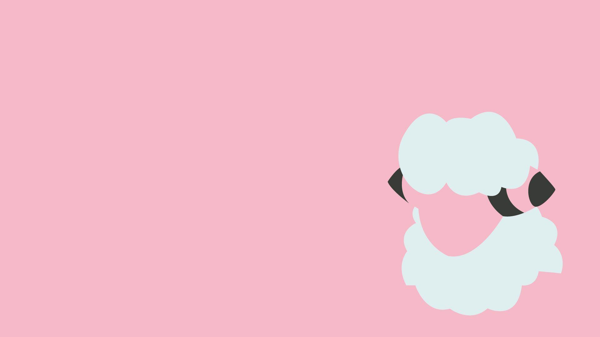 Ash character Flaaffy Pokemon pink simple background wallpaper ...