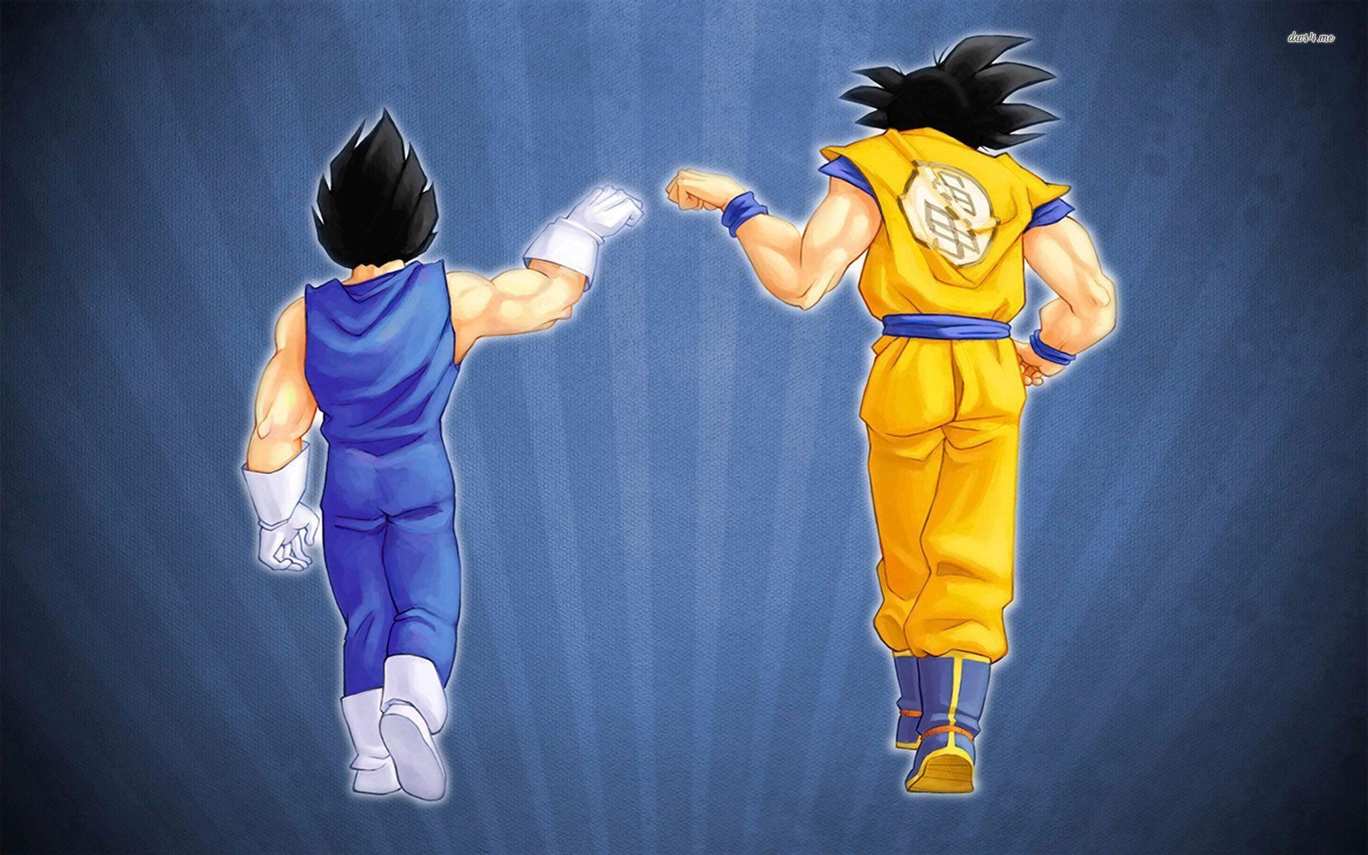 Goku and Vegeta fist bump Full HD Wallpaper and Background ...