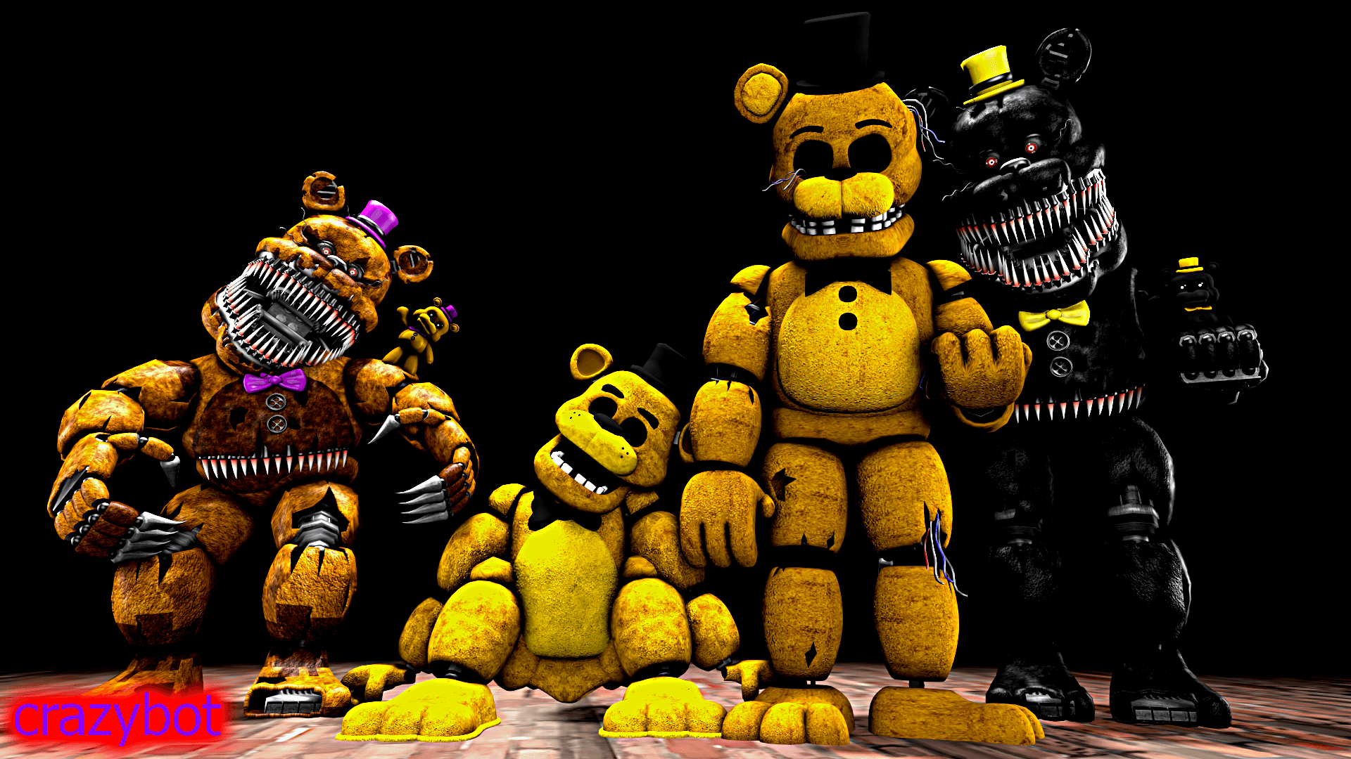 Golden Freddy Wallpapers Wallpaper Cave
