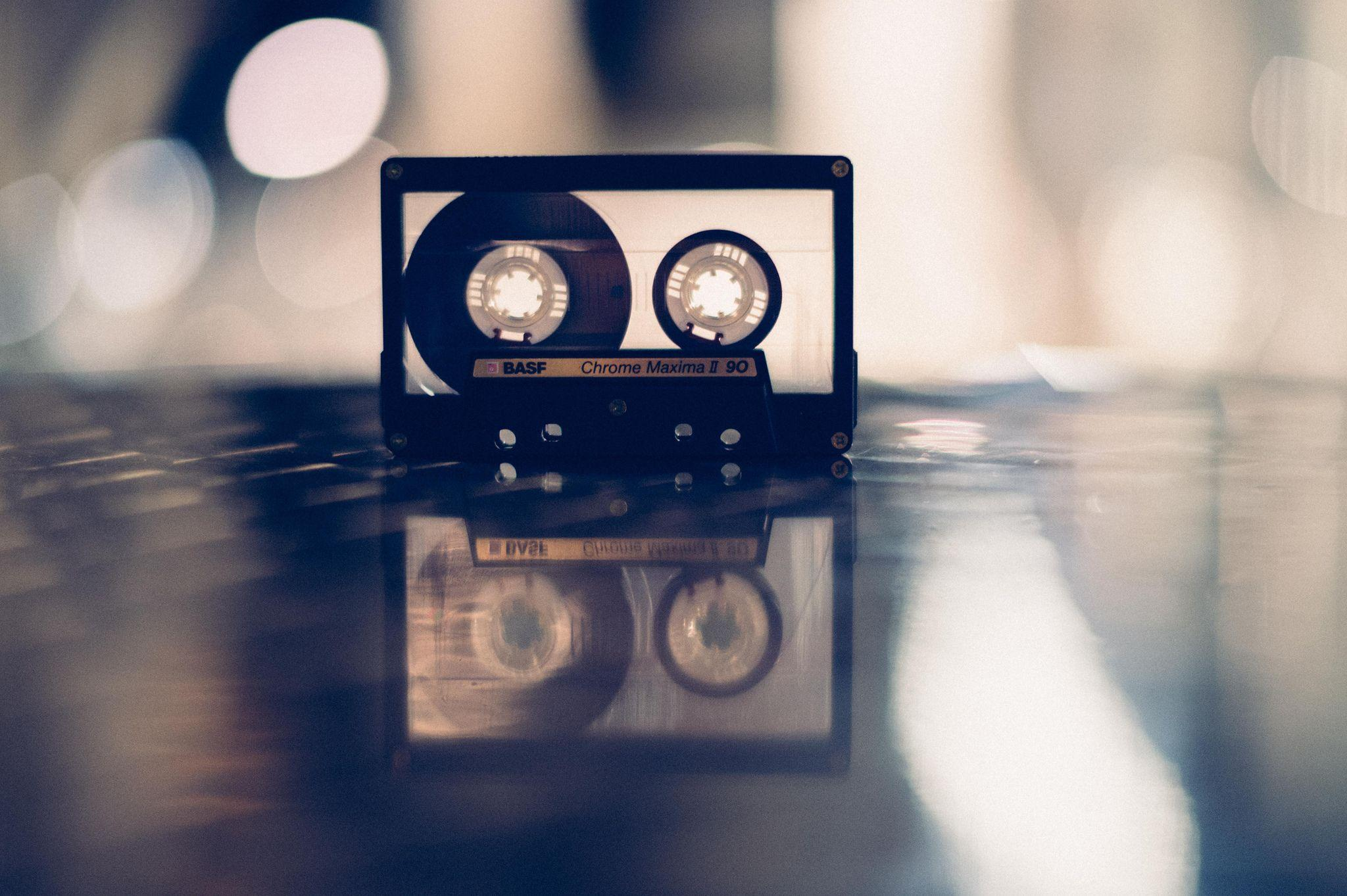 BASF Tape Recorder And Reflection Light Bokeh