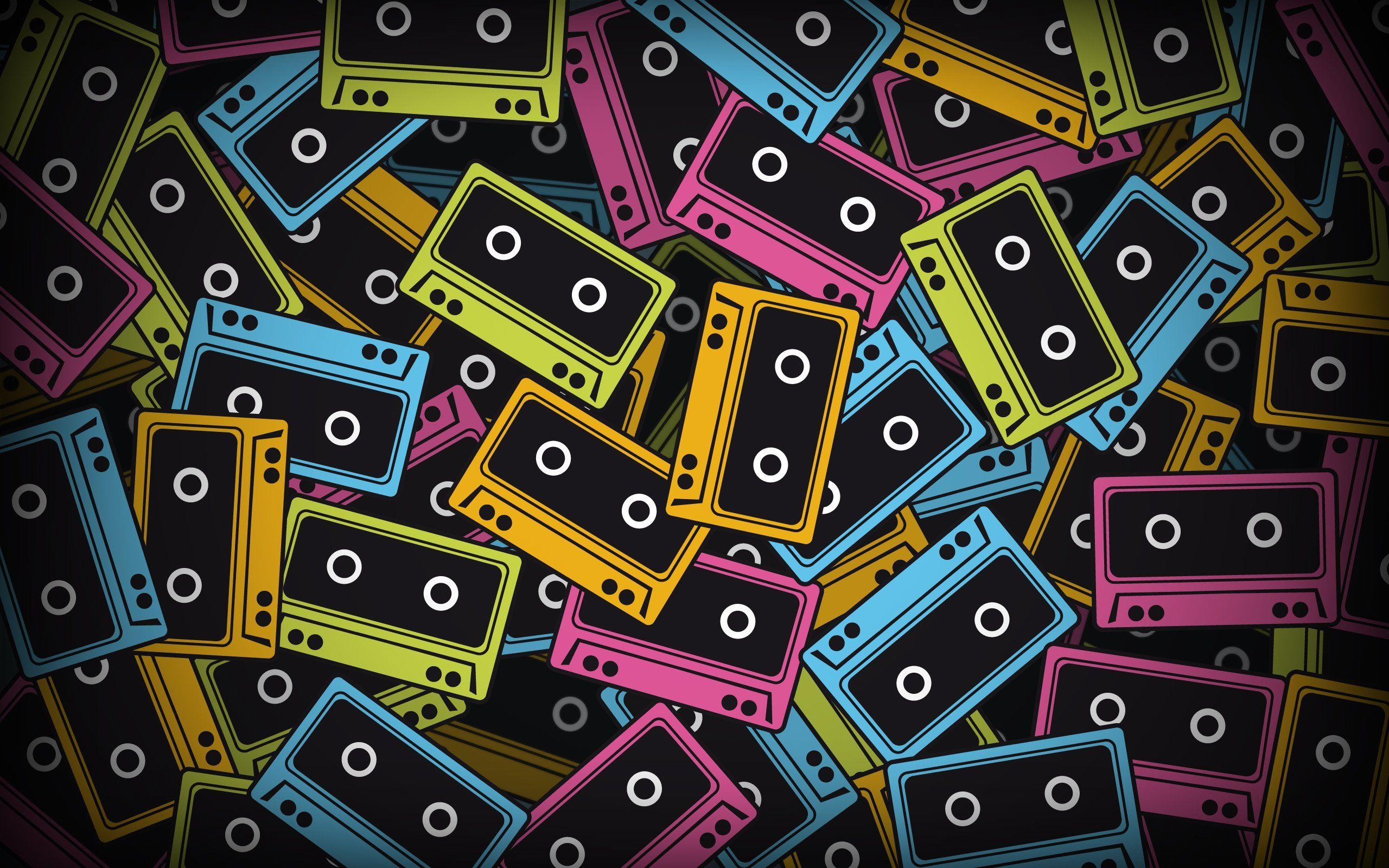 Audio Tapes Cassette Gray Minimalistic Tape - WallDevil
