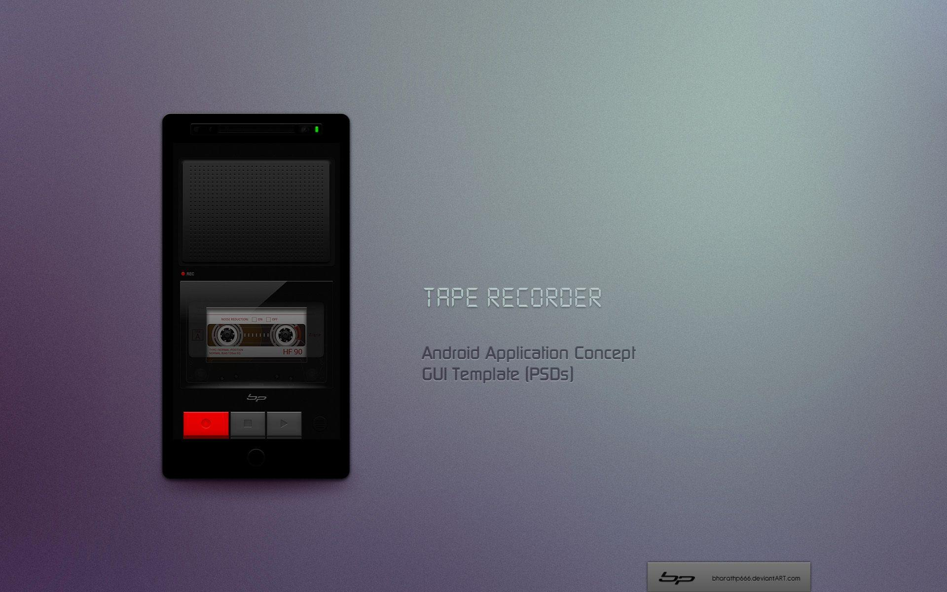 Android: Tape Recorder App. Concept by bharathp666 on DeviantArt
