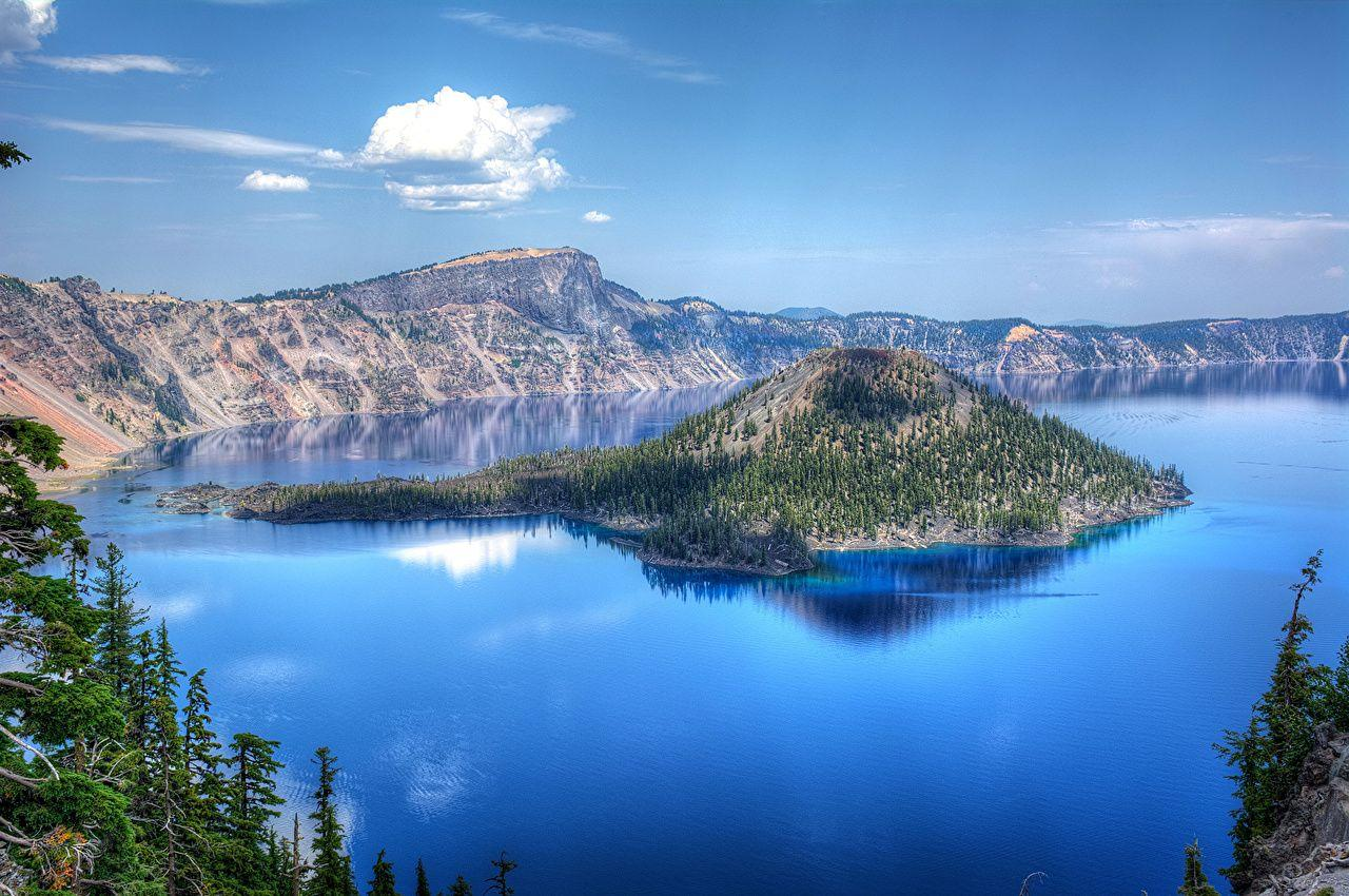 Photos USA Crater Lake National Park Nature Mountains Sky Parks