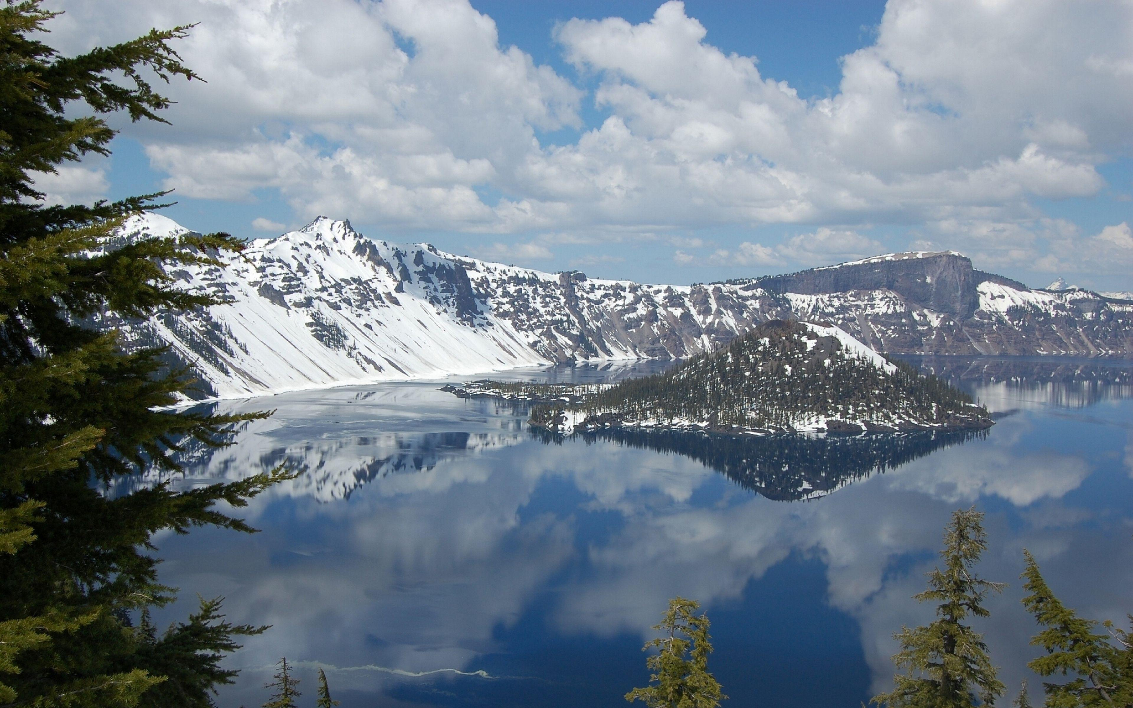 Download Wallpaper 3840x2400 Crater lake, National park, Oregon ...