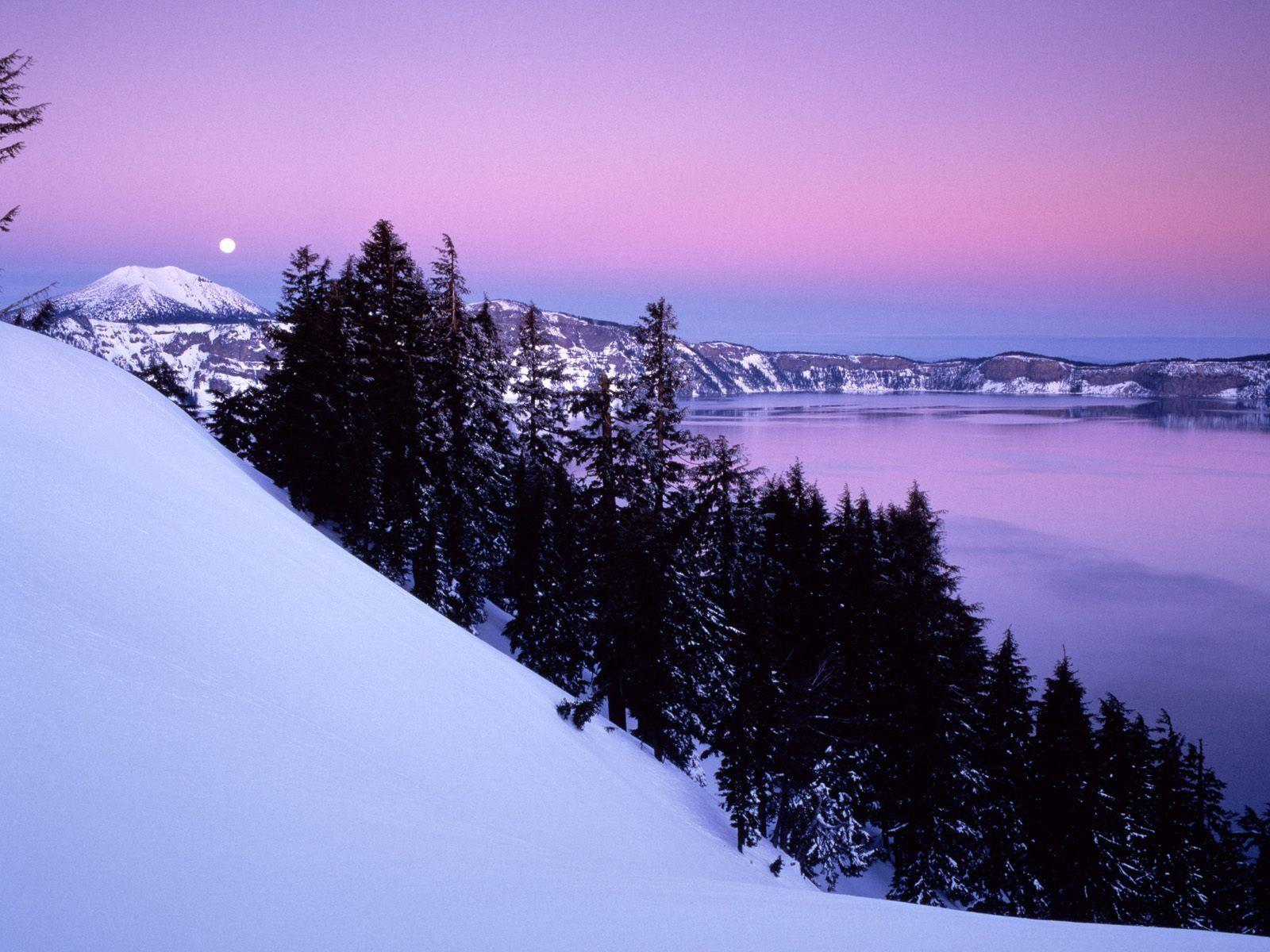 Crater Lake National Park Wallpaper Winter Nature Wallpapers in ...