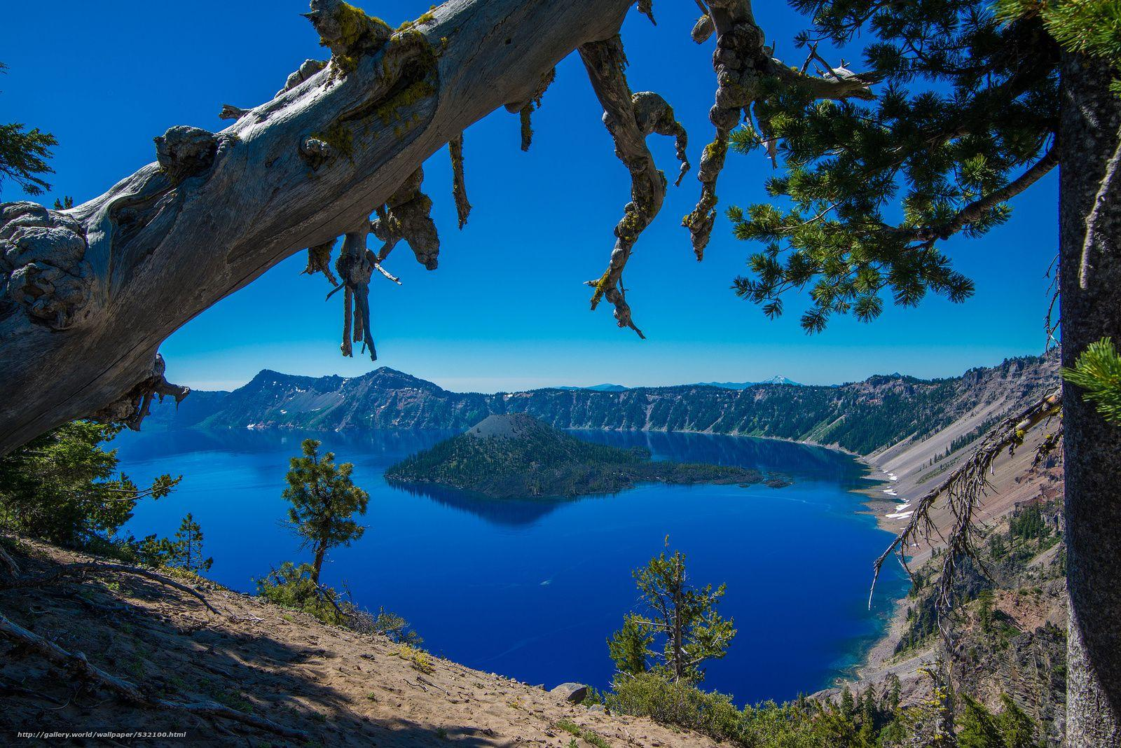 Download wallpaper crater lake, crater lake national park, oregon ...
