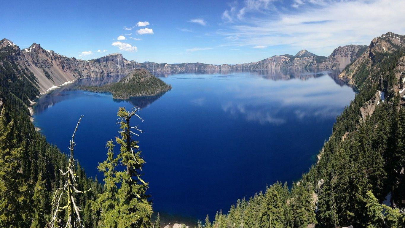 Crater Lake National Park Oregon Desktop Hd Wallpaper For Pc ...