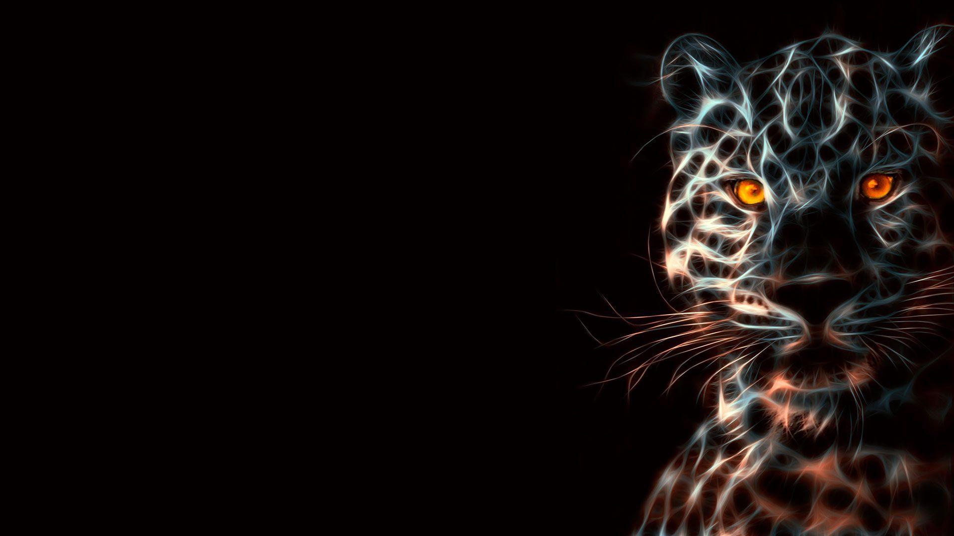 Digital Leopard Art Wallpapers: Neon Animals Wallpapers