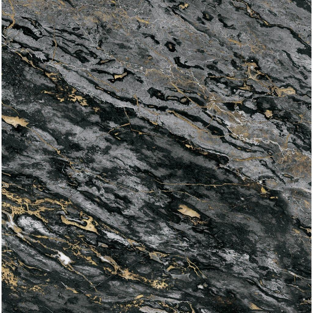 Black & gold Sarrancolin marble panoramic wallpapers