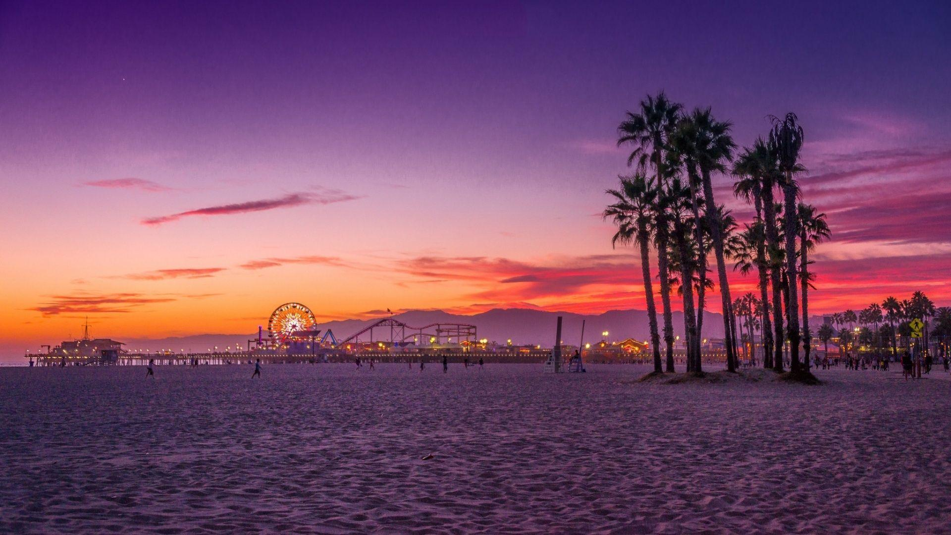 santa monica city, california[1920x1080] : wallpapers
