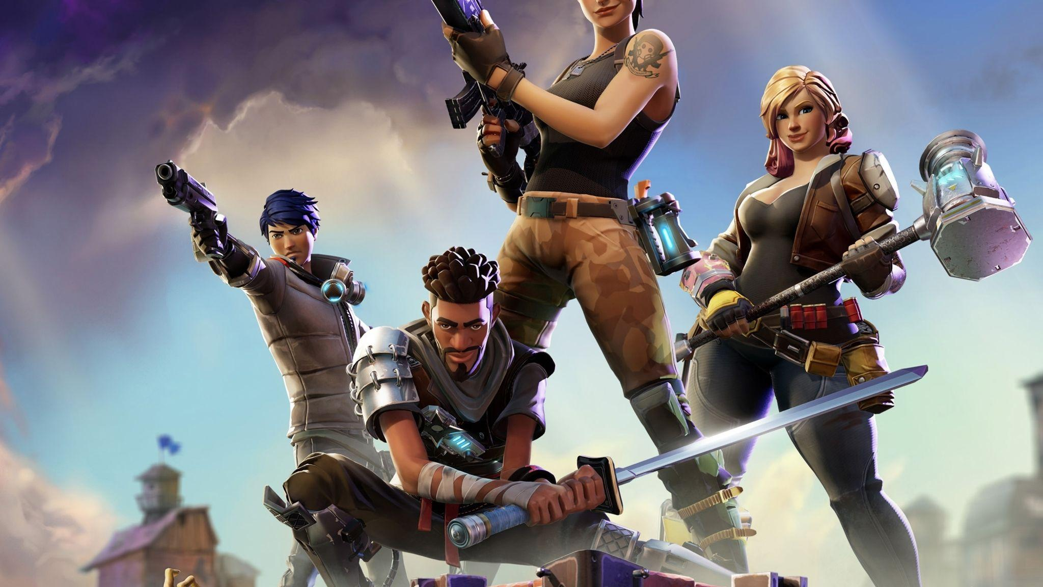 Download Fortnite HD 4k Wallpapers In 2048x1152 Screen Resolution