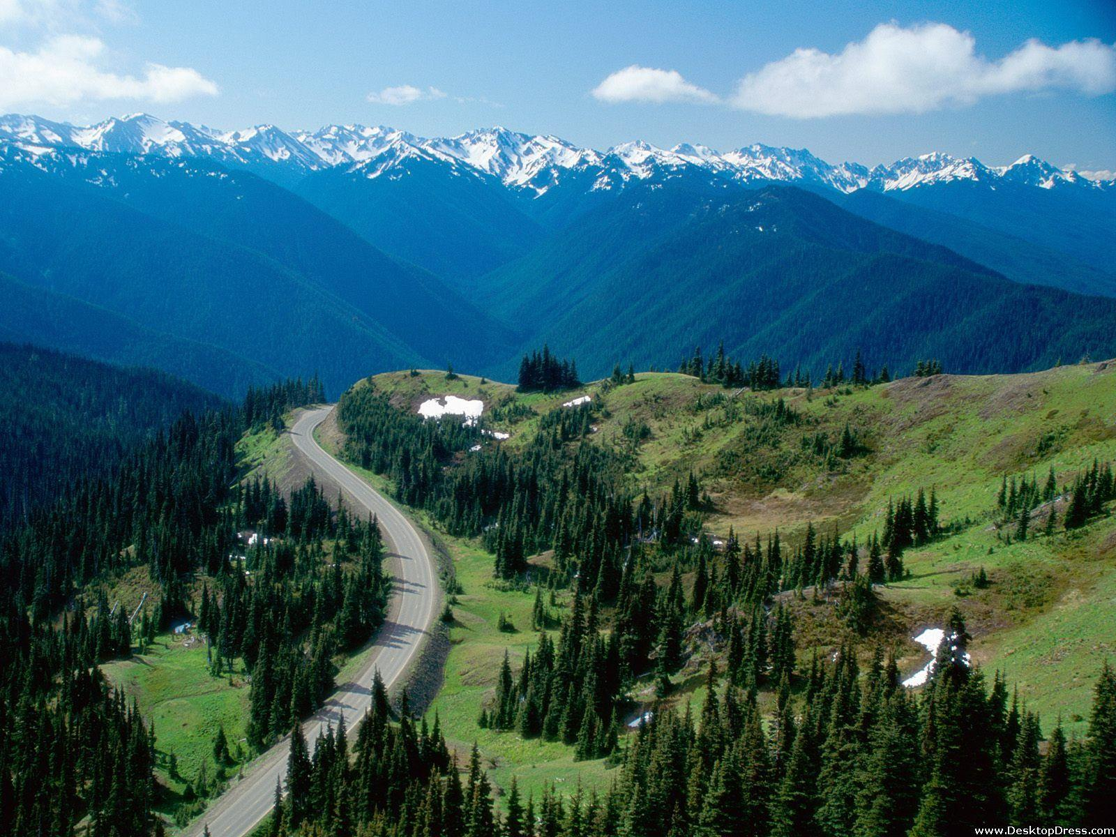 Desktop Wallpapers » Natural Backgrounds » Olympic Range, Olympic