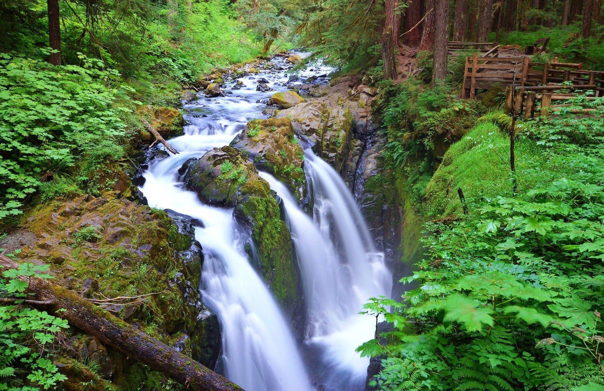 sol duc falls olympic national park washington united states river