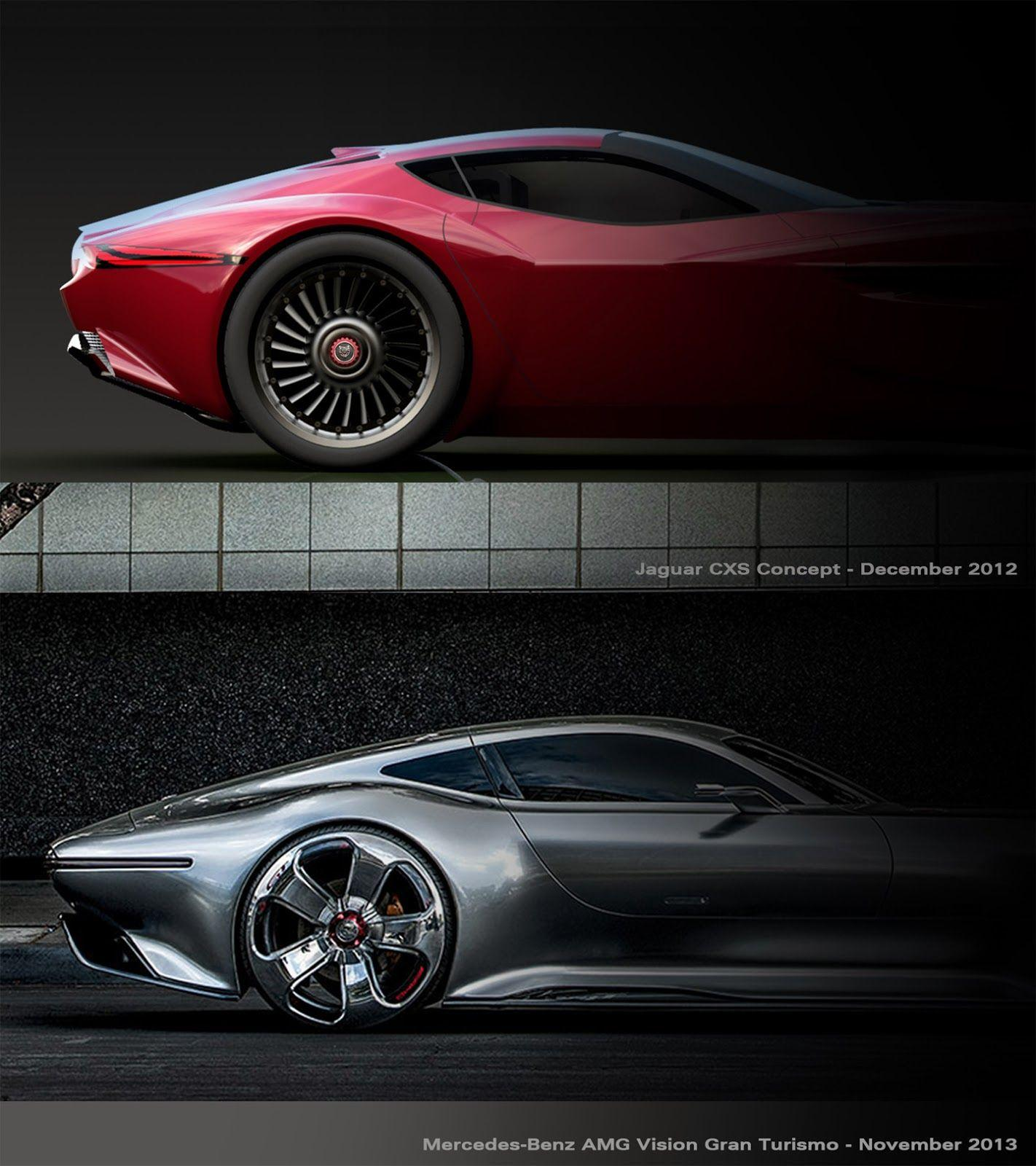 Jaguar CXS Concept vs Mercedes