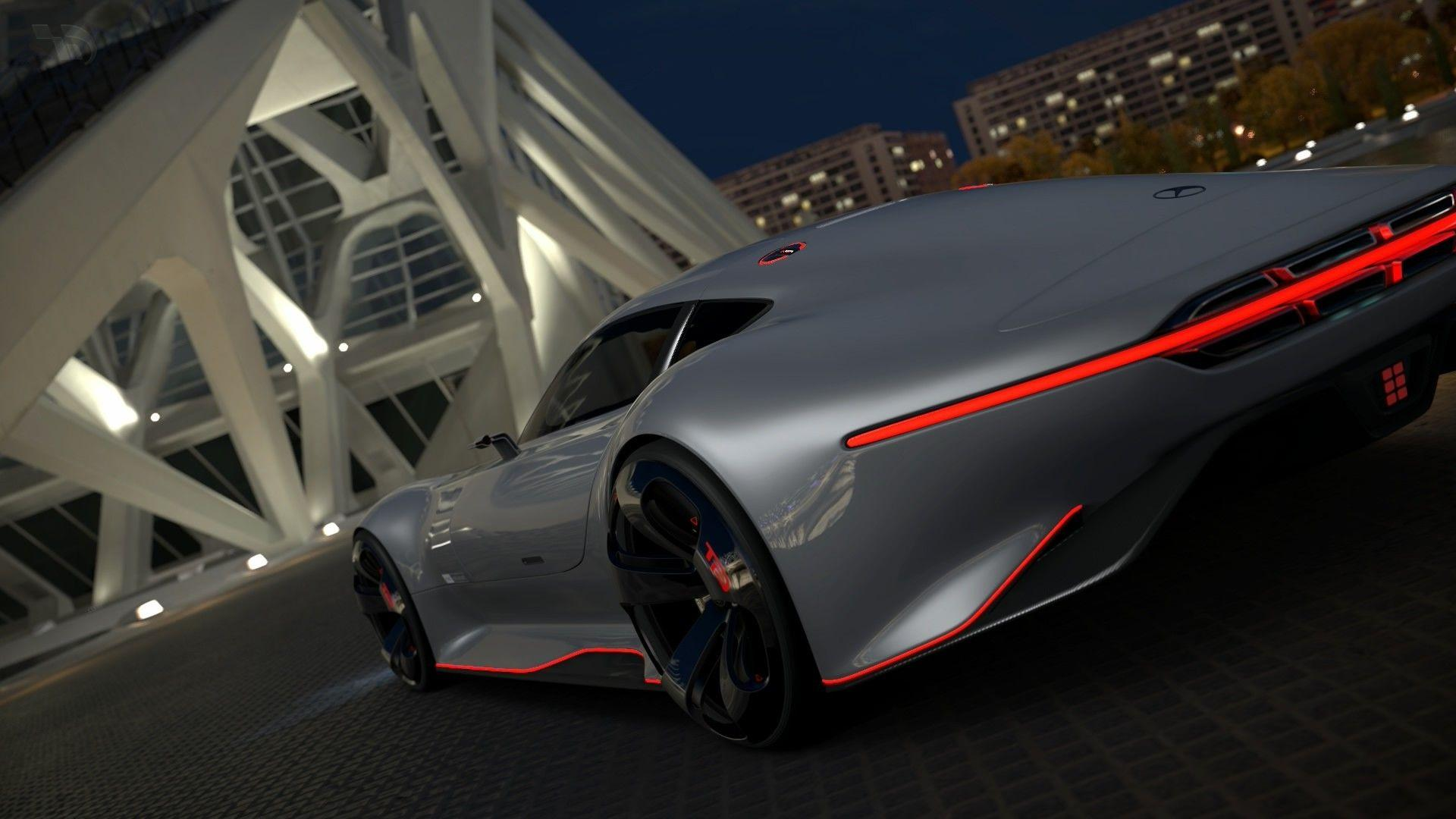 car, Gran Turismo 5, Mercedes Benz AMG Vision Gran Turismo, Video