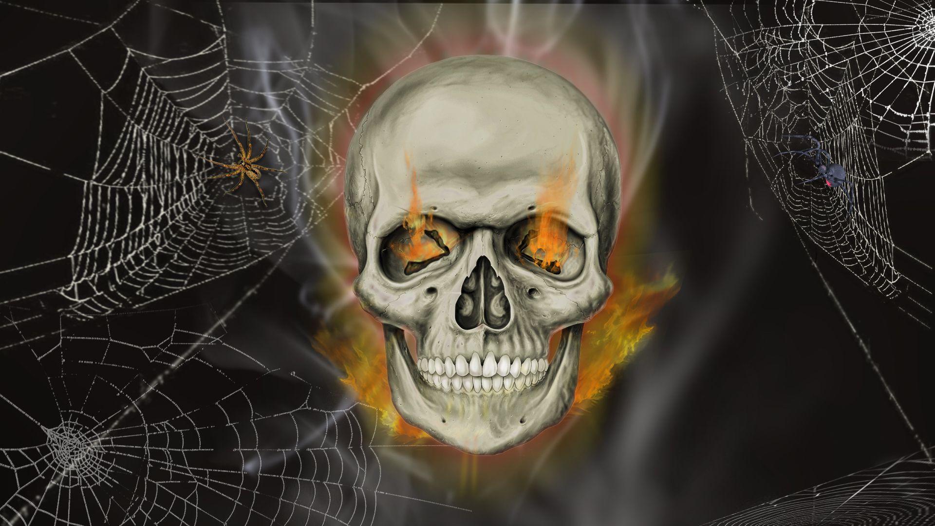 Halloween skeletons wallpapers wallpaper cave - Moving spider desktop ...