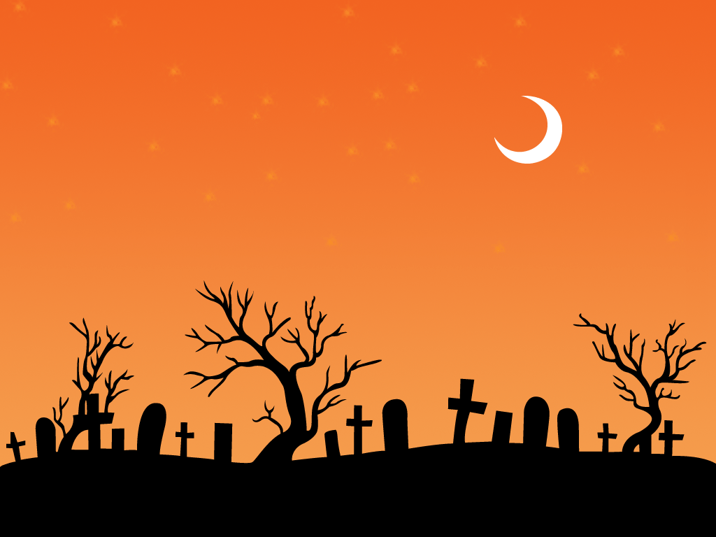 Halloween Backgrounds Black, Cartoon, Games, Orange PPT #9267