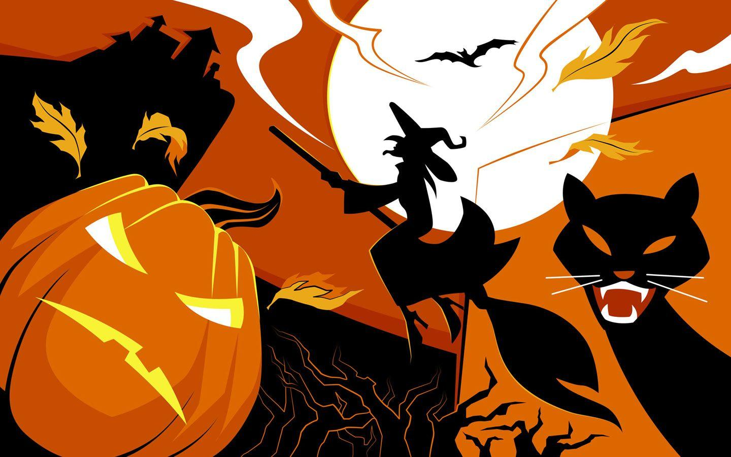 Scary Halloween 2012 HD Wallpapers | Pumpkins, Witches, Spider Web ...