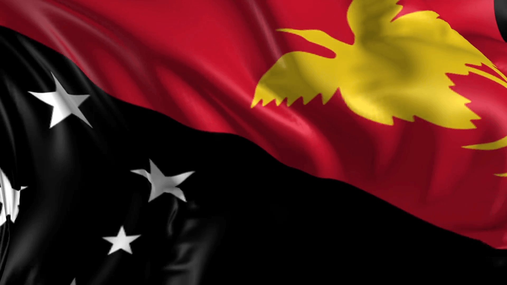 Flag of Papua New Guinea- Beautiful 3d animation of Papua New ...