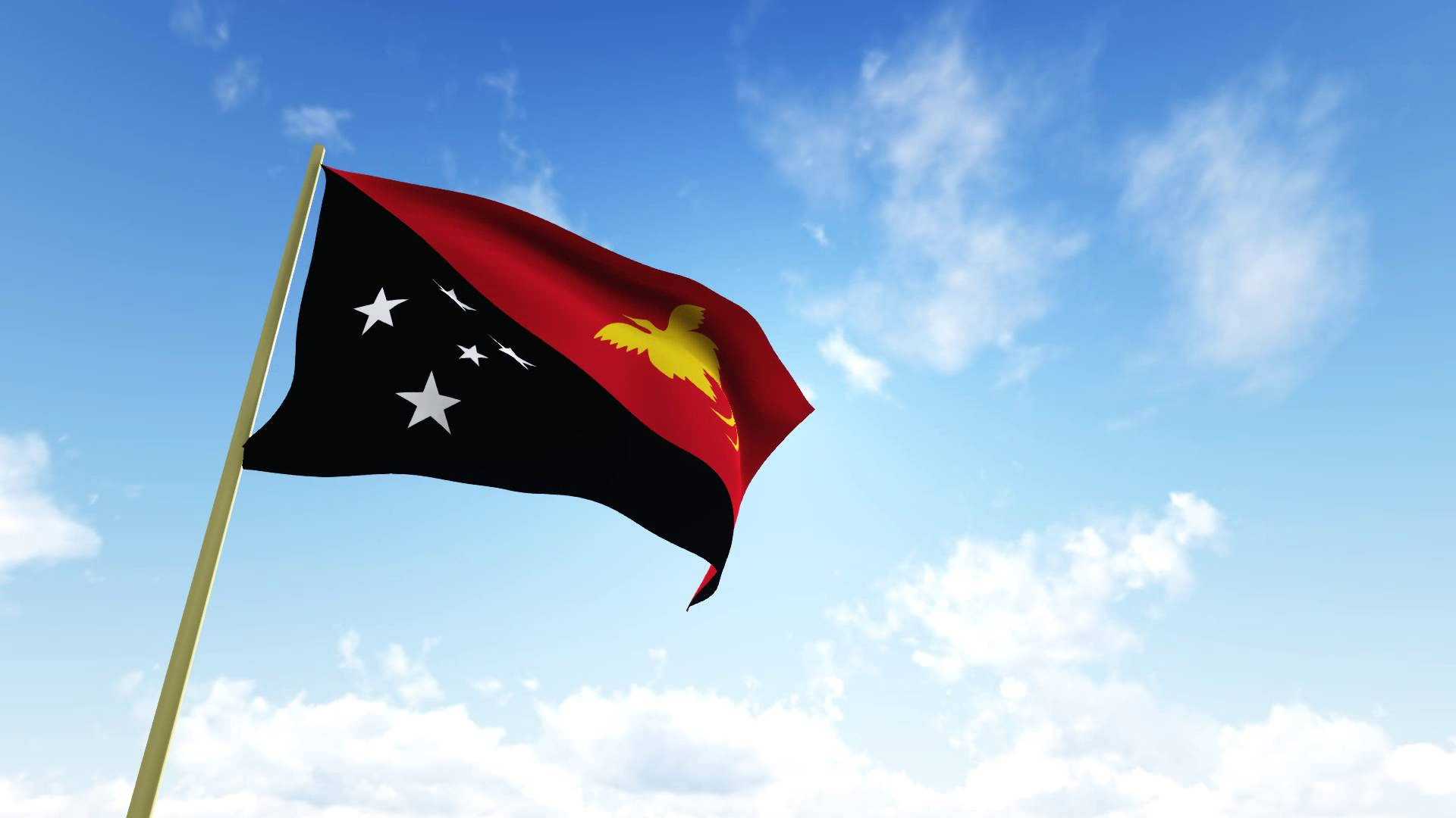 Flag of Papua New Guinea - Video HD 1080P - YouTube