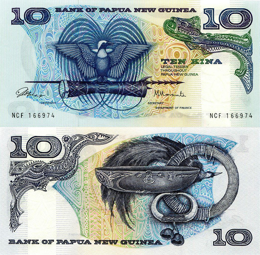 Picture Banknotes 10 kina Papua New Guinea Money