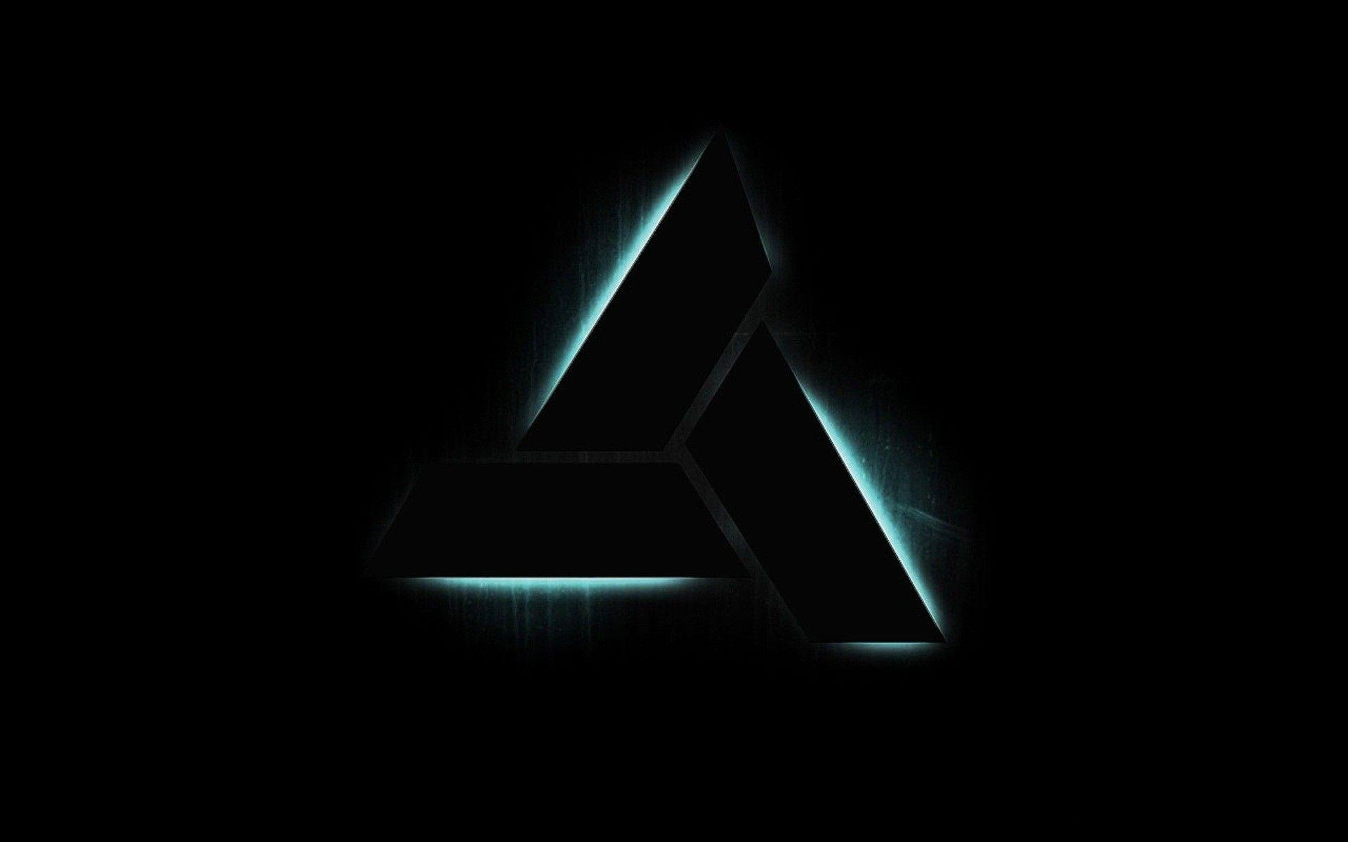 Assassins Creed, logos, triangle, black backgrounds :: Wallpapers