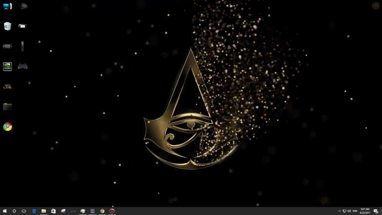 wallpapers engine free download assassins creed origins logo